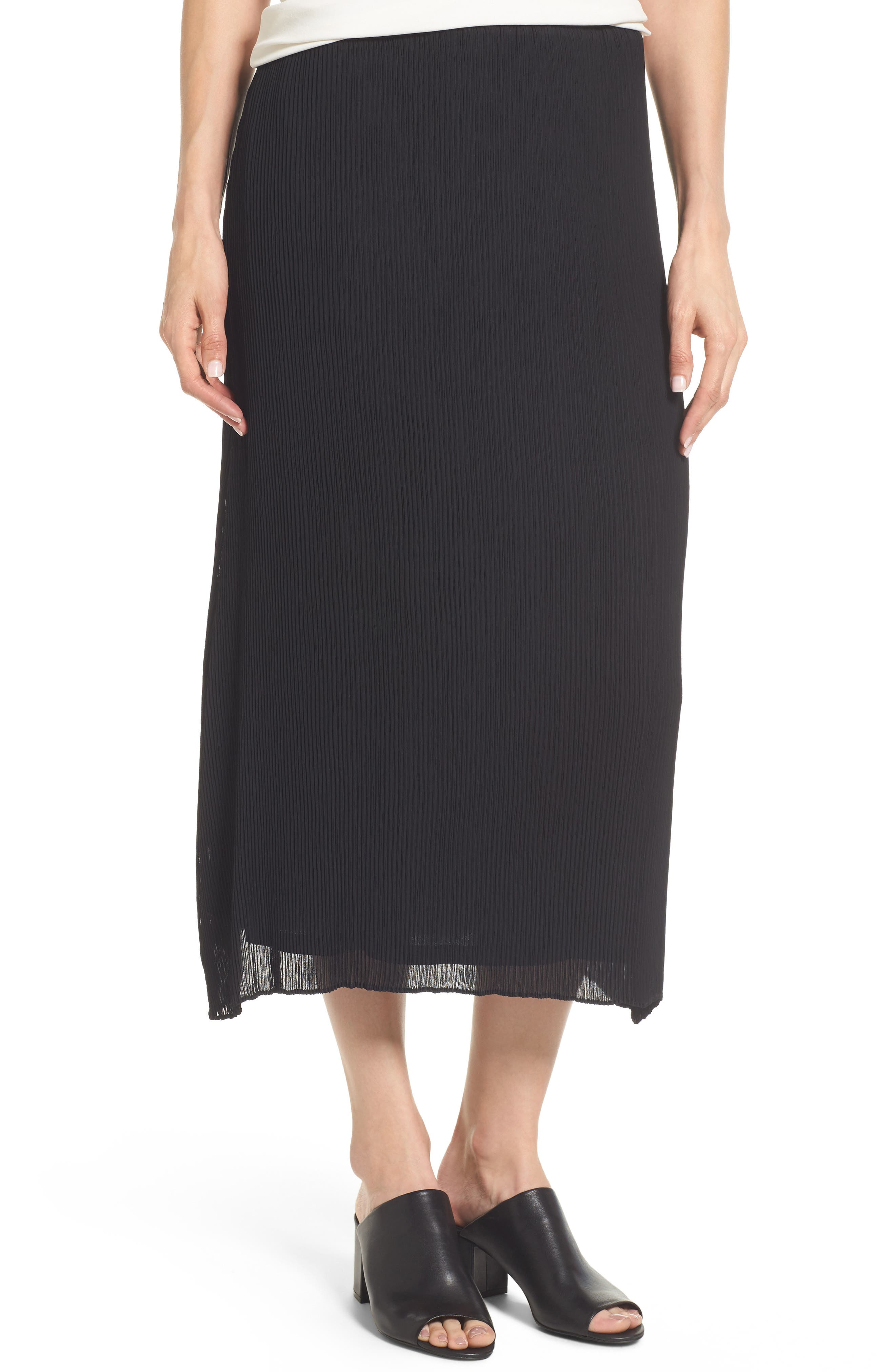 Eileen Fisher Pleated Midi Skirt
