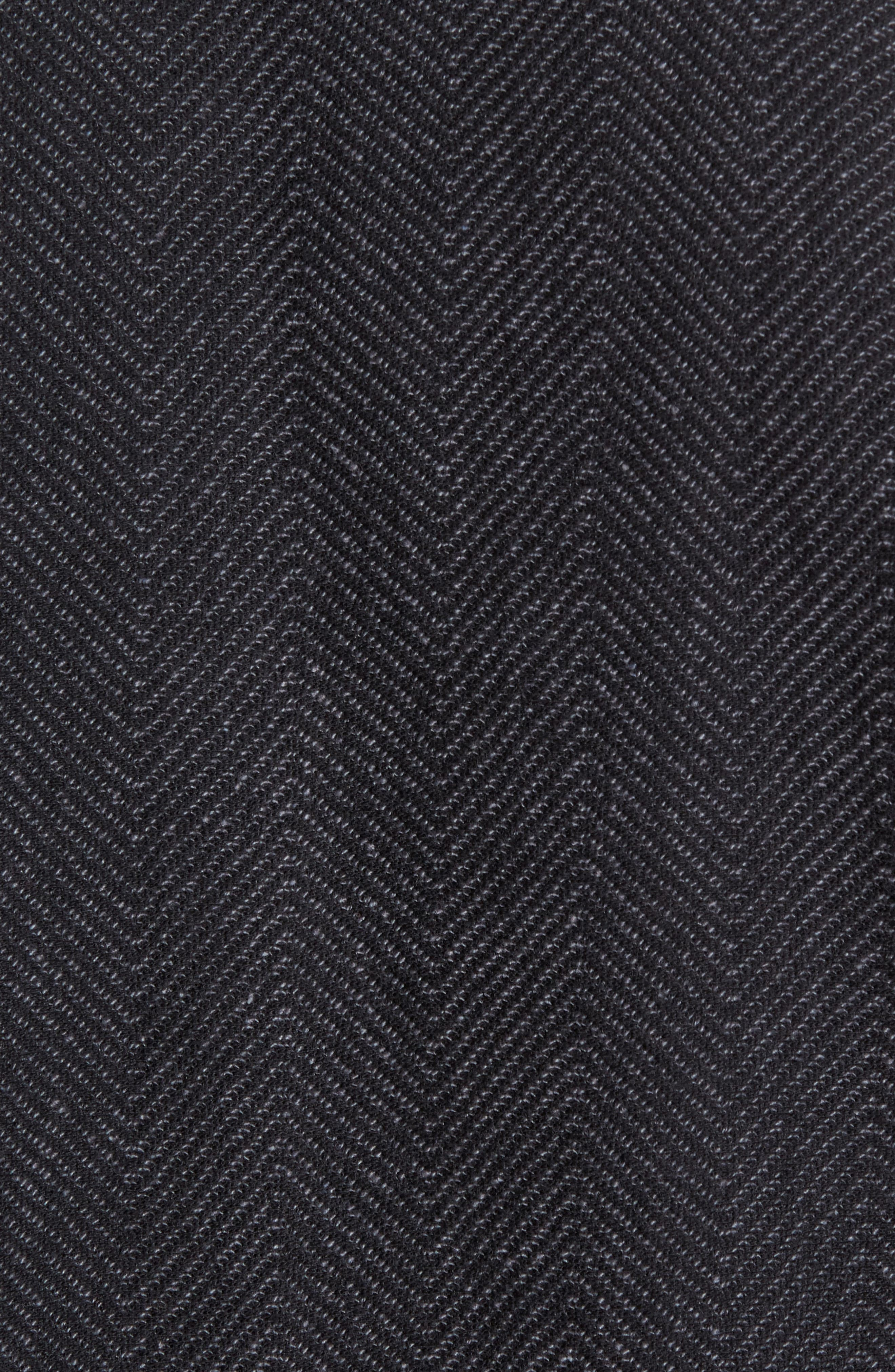 Fleece Lined Shawl Collar Cardigan,                             Alternate thumbnail 5, color,                             Grey Phantom Herringbone