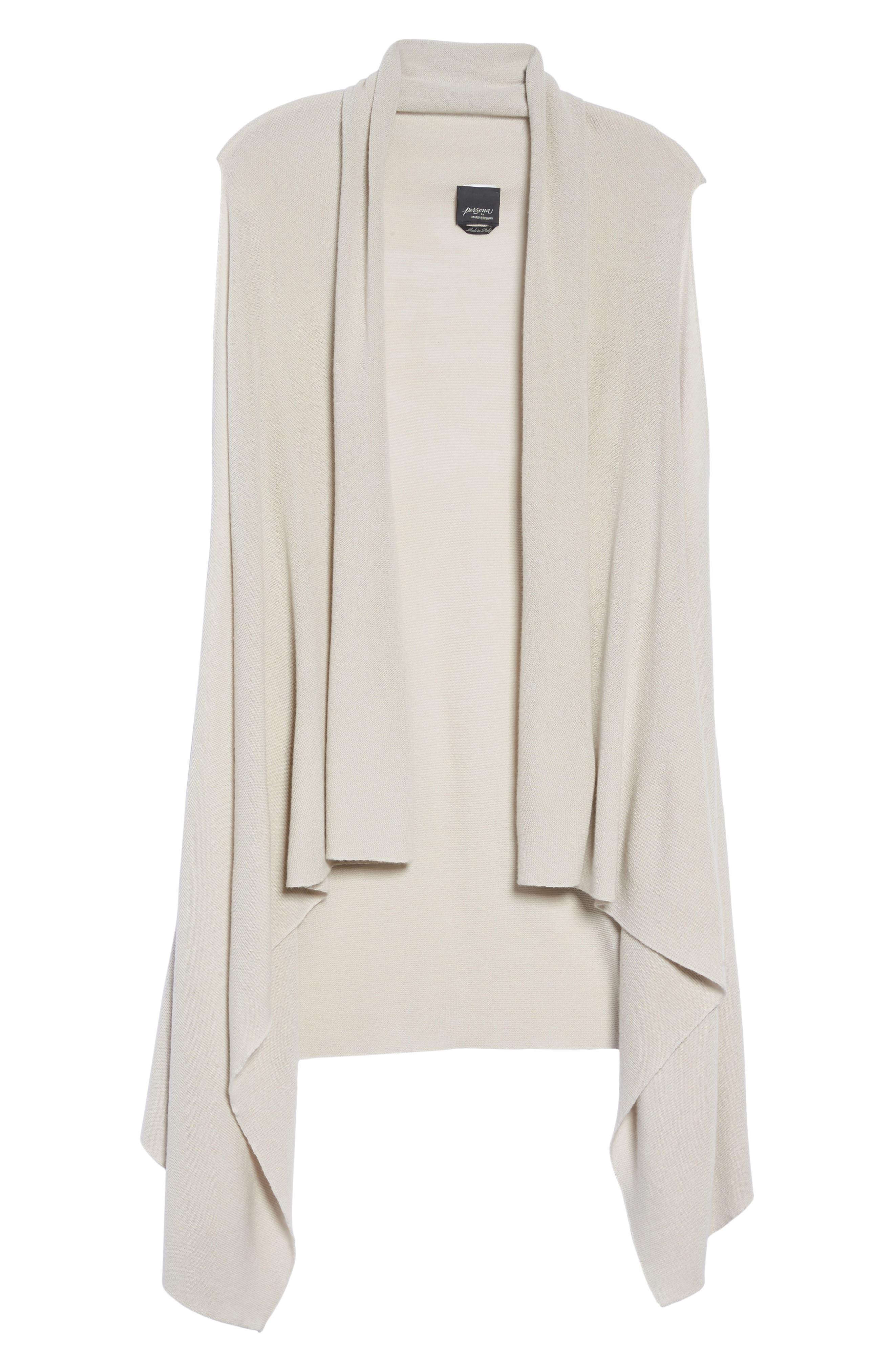 Wool Blend Knit Vest,                             Alternate thumbnail 6, color,                             Light Grey