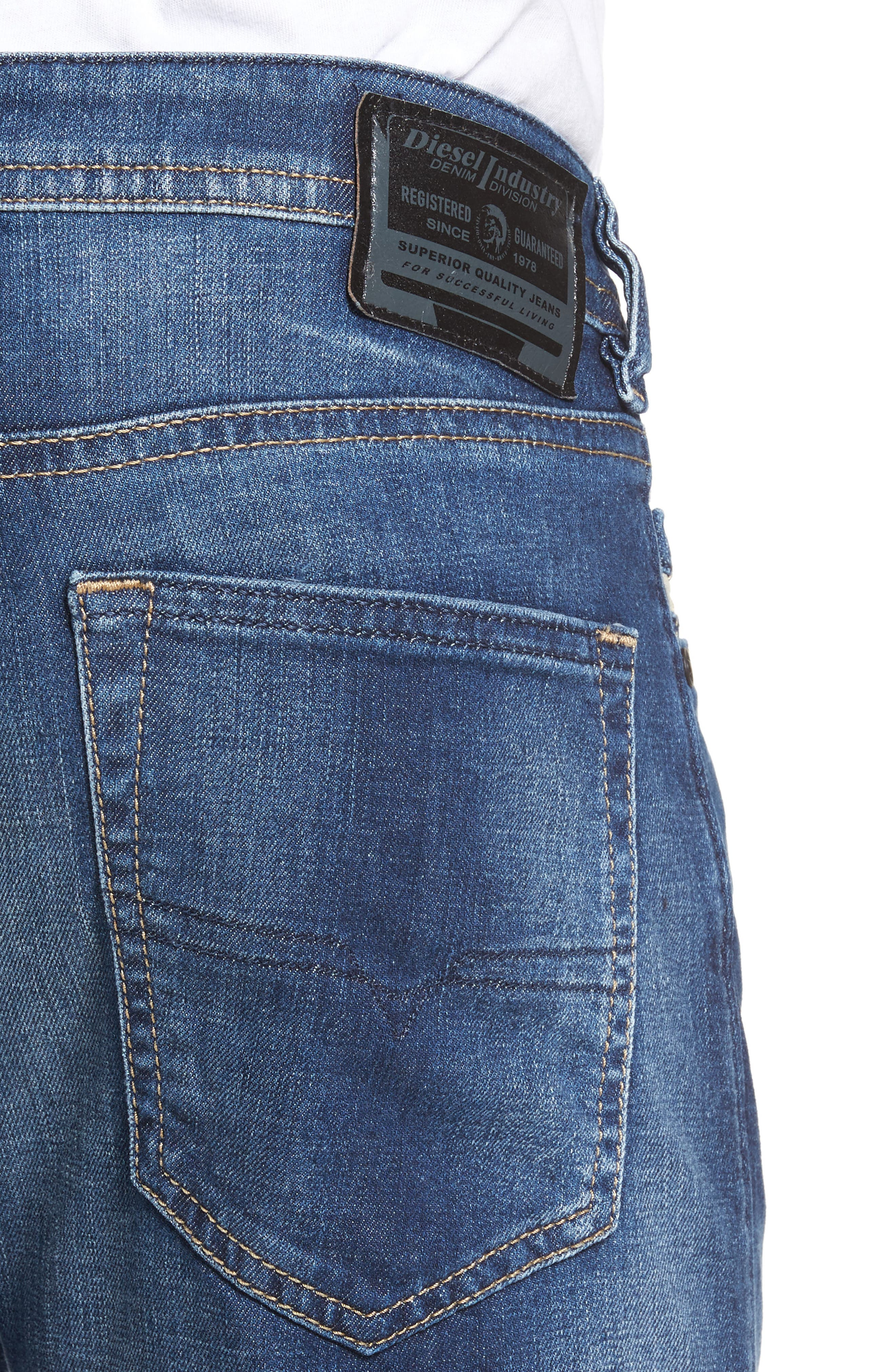 Buster Slim Straight Leg Jeans,                             Alternate thumbnail 4, color,                             084Gr