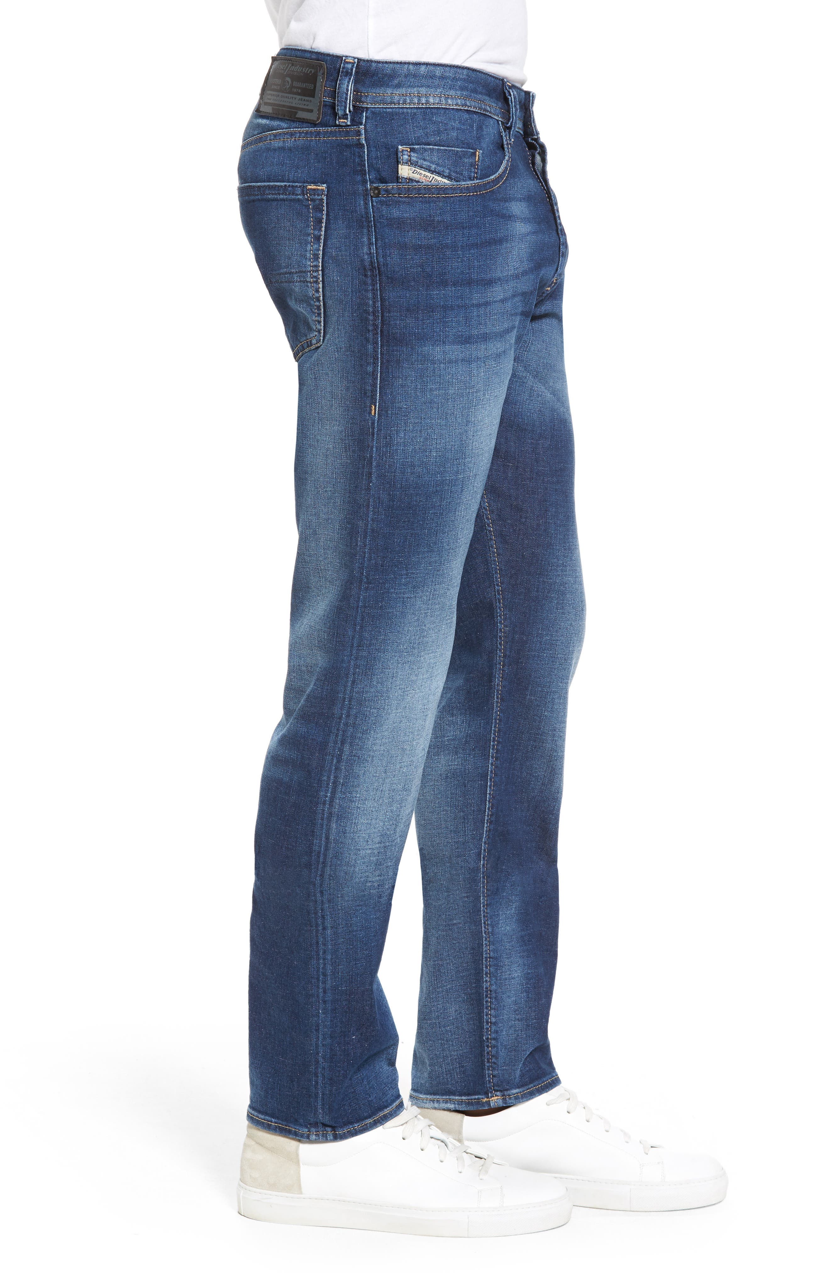 Buster Slim Straight Leg Jeans,                             Alternate thumbnail 3, color,                             084Gr