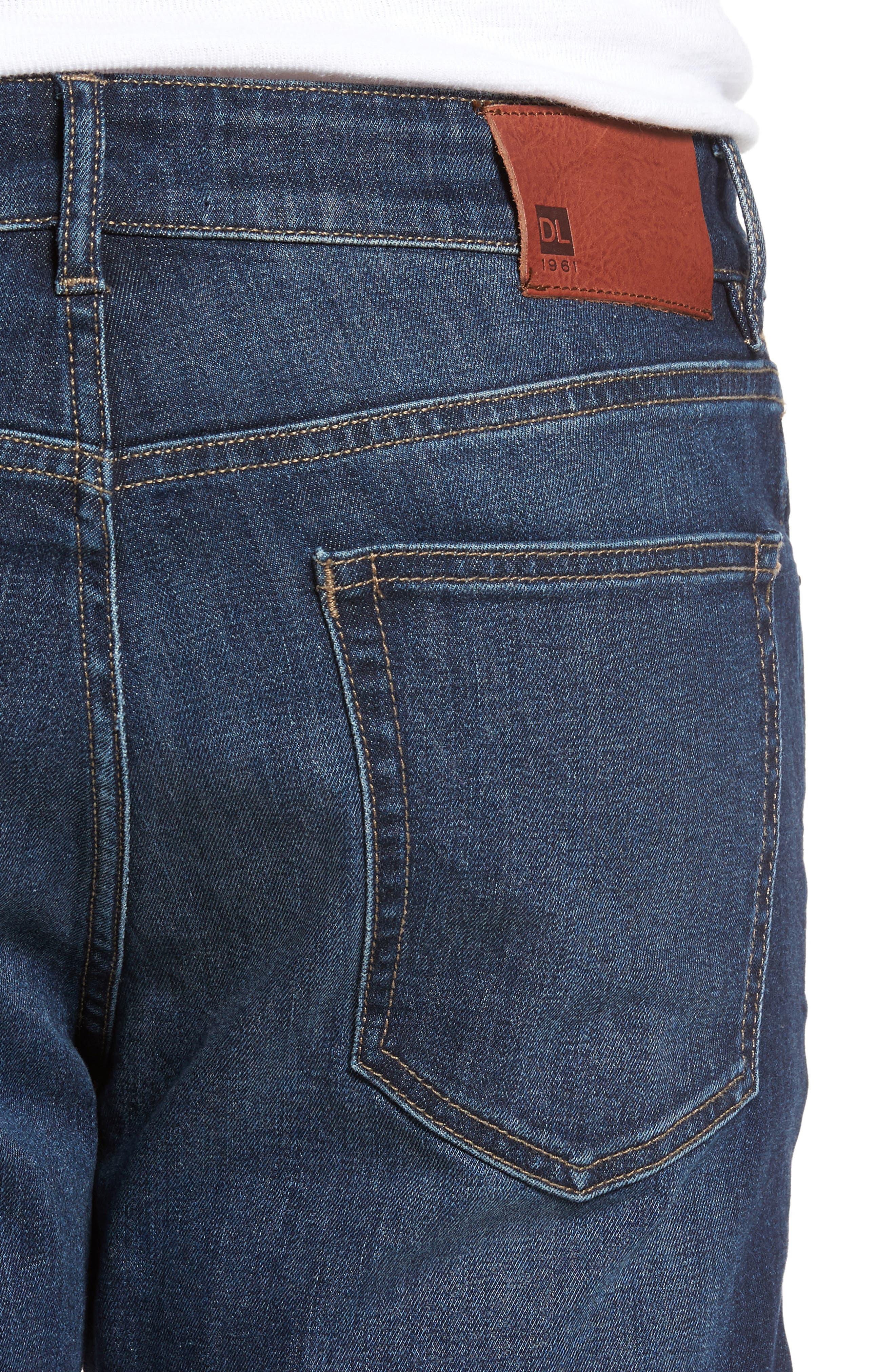 Alternate Image 4  - DL1961 Russell Slim Straight Leg Jeans (Marine)