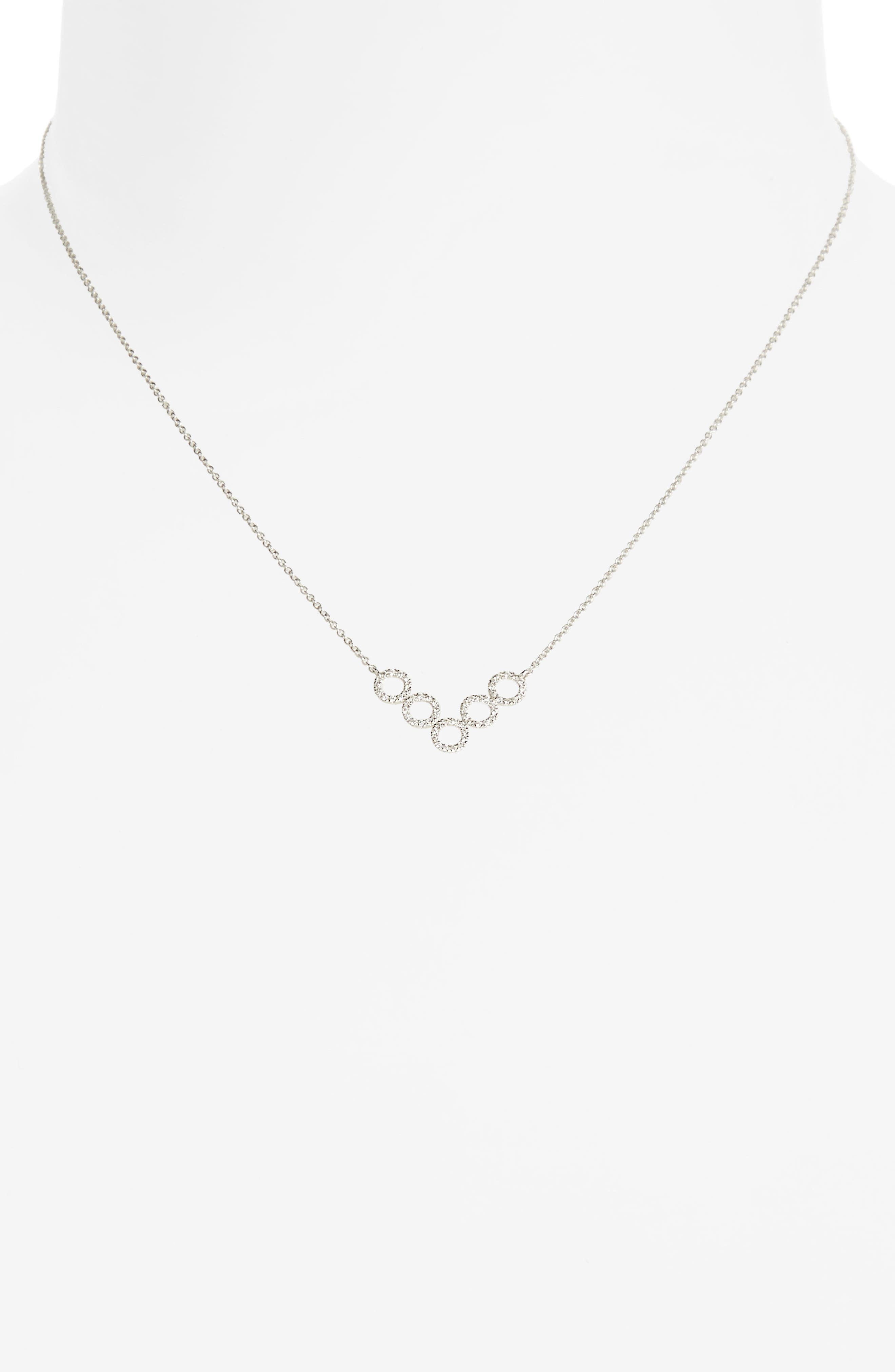 Alternate Image 1 Selected - Bony Levy Geometric Circle Pendant Necklace (Nordstrom Exclusive)
