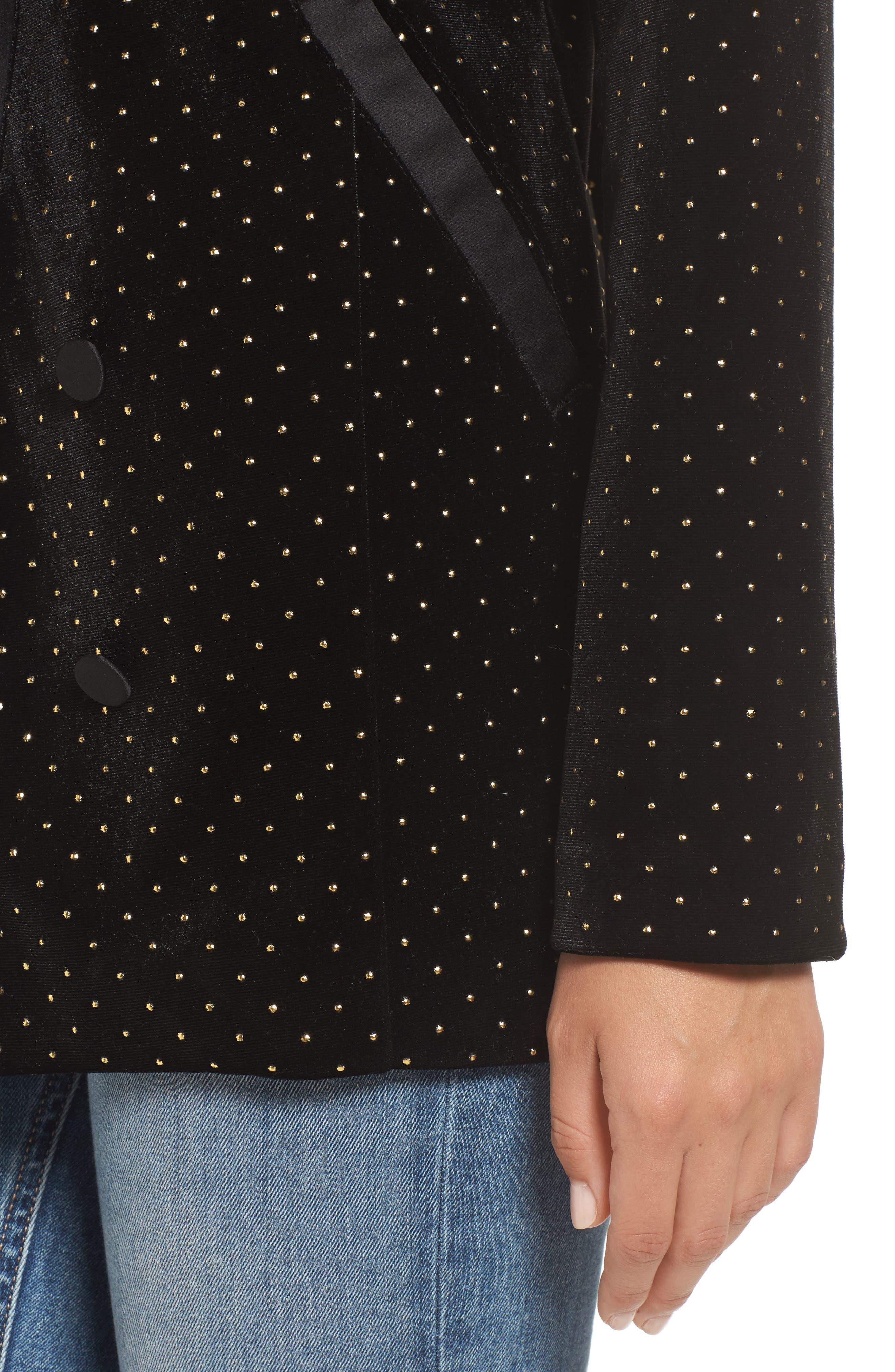 Alternate Image 4  - Leith Studded Velour Blazer