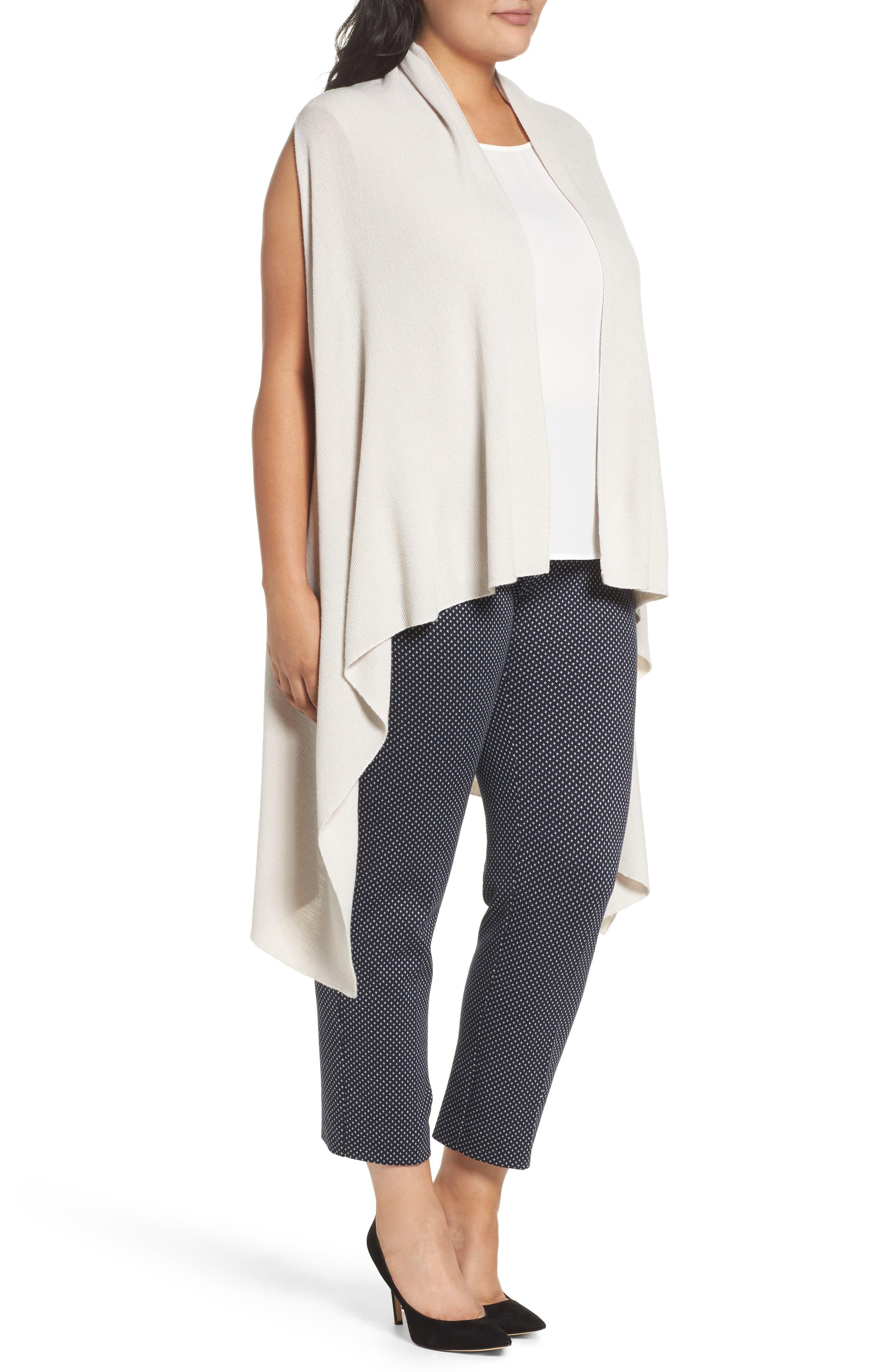 Wool Blend Knit Vest,                             Alternate thumbnail 3, color,                             Light Grey