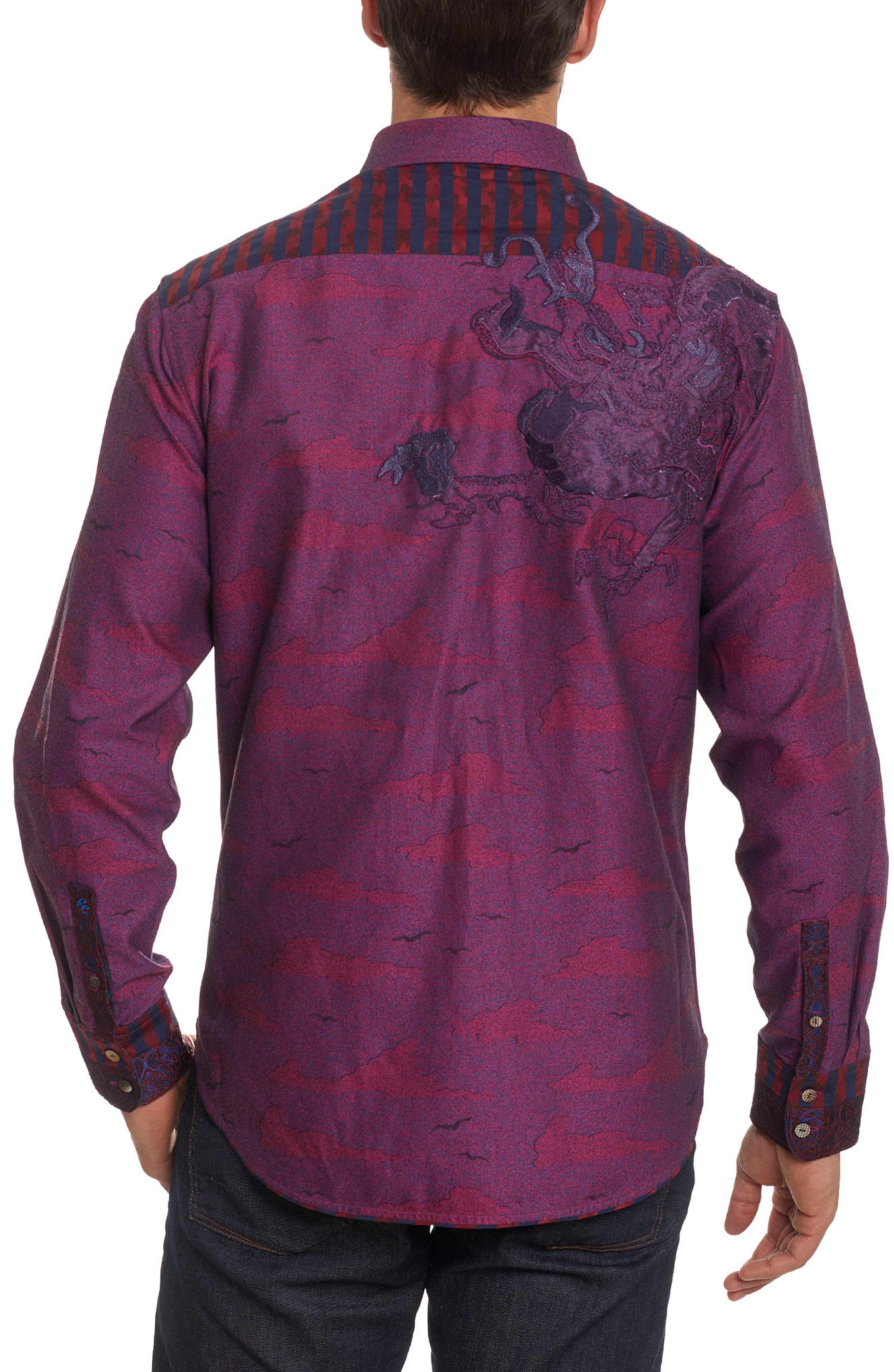 Drakon Limited Edition Classic Fit Sport Shirt,                             Alternate thumbnail 2, color,                             Merlot