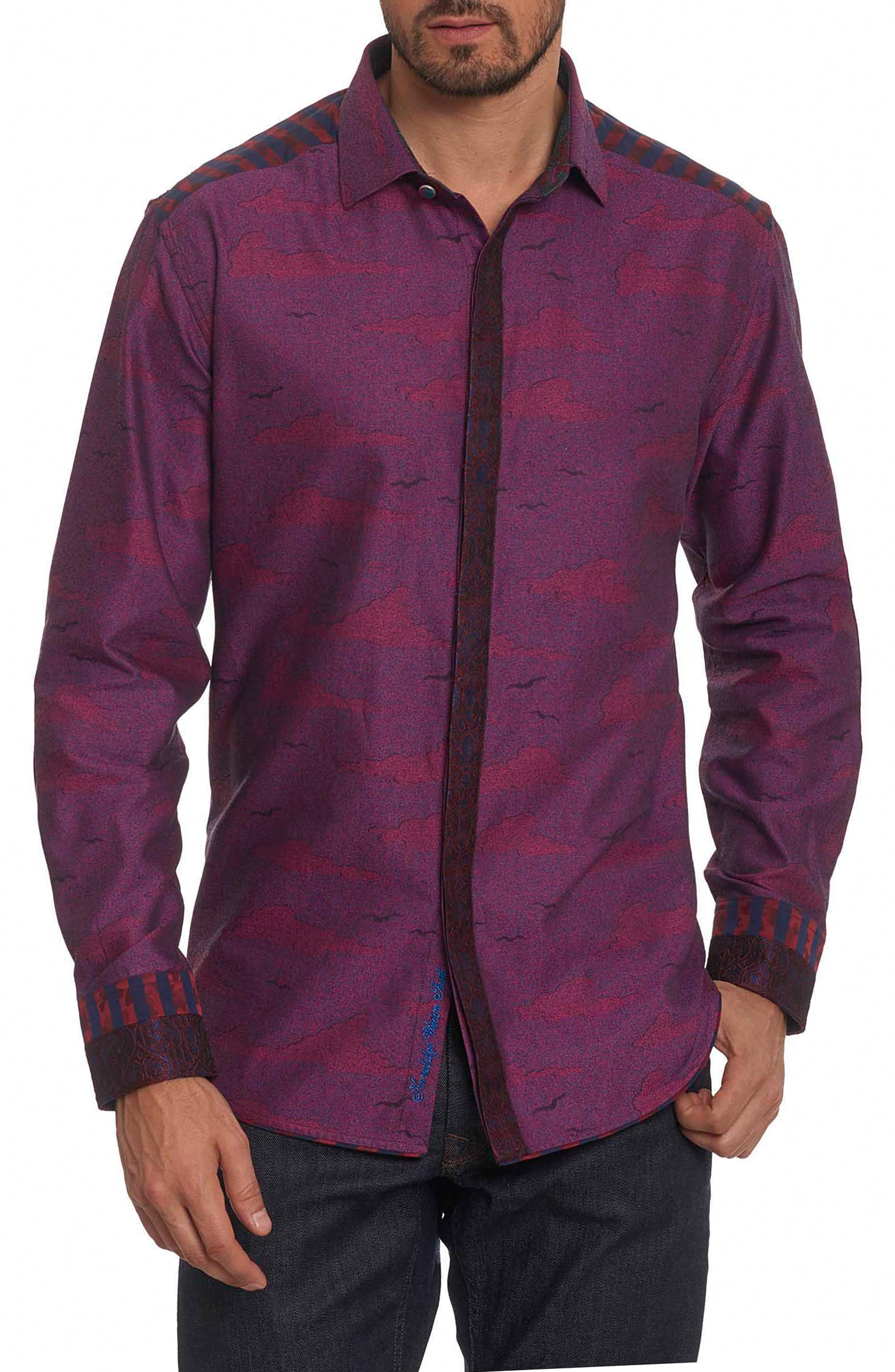 Drakon Limited Edition Classic Fit Sport Shirt,                             Main thumbnail 1, color,                             Merlot