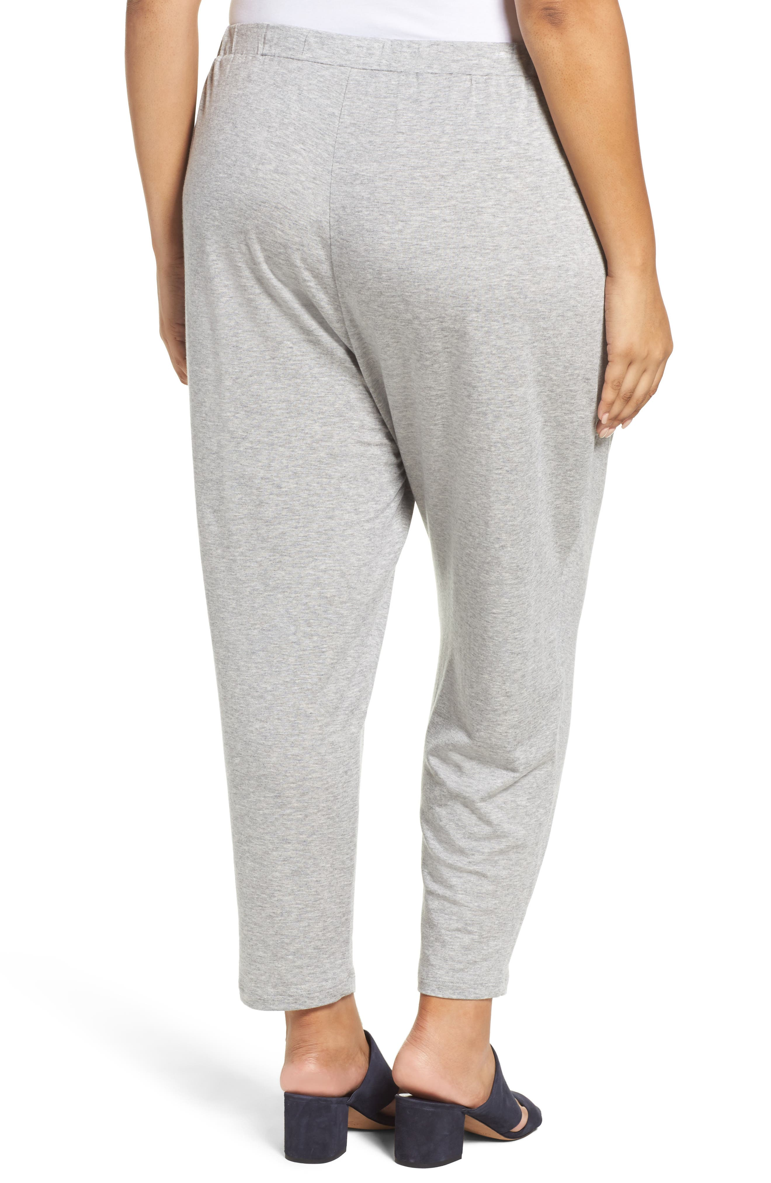 Alternate Image 2  - Eileen Fisher Drawstring Ankle Pants (Plus Size)
