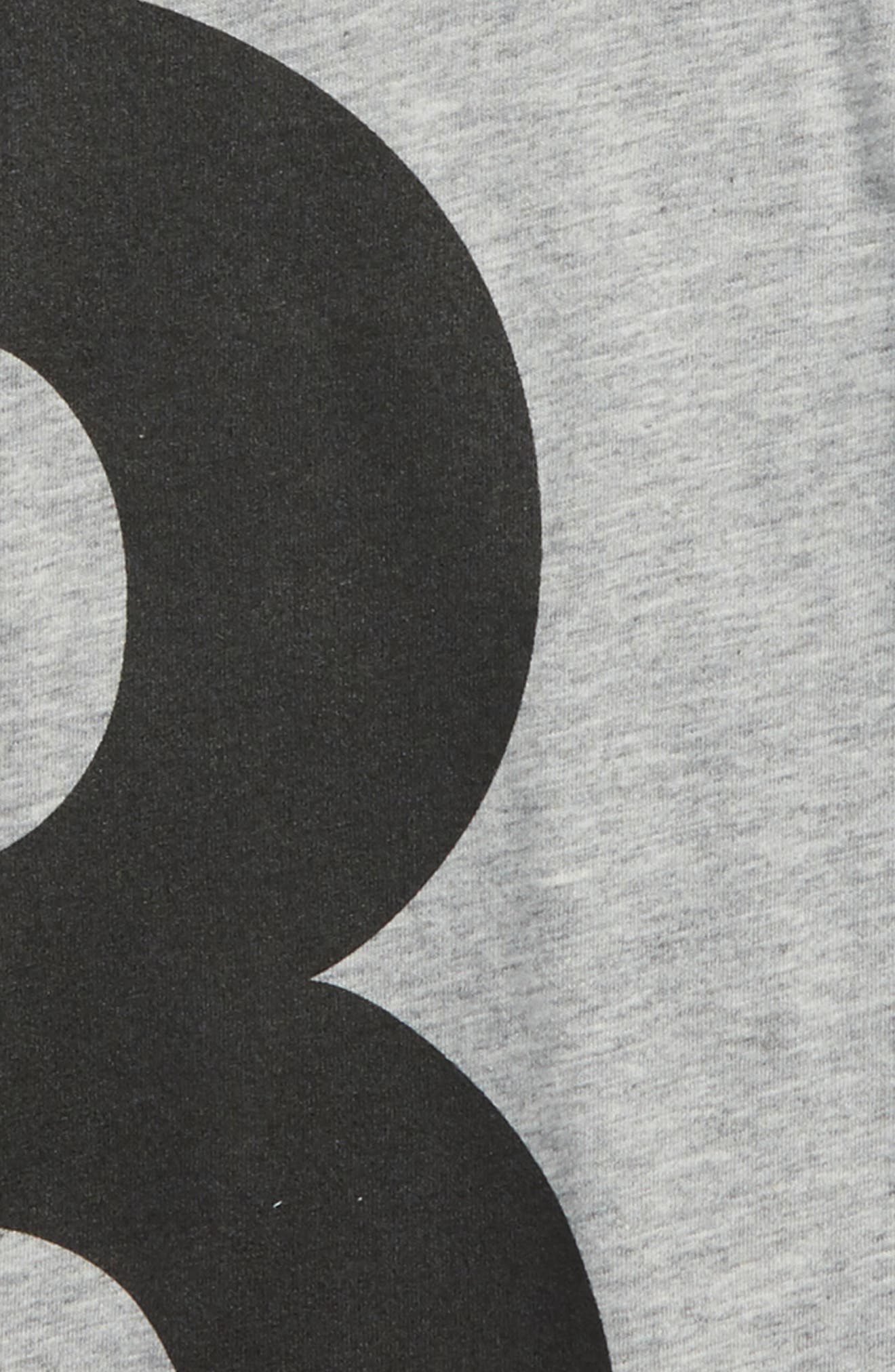 Numbered Tee,                             Alternate thumbnail 2, color,                             Heather
