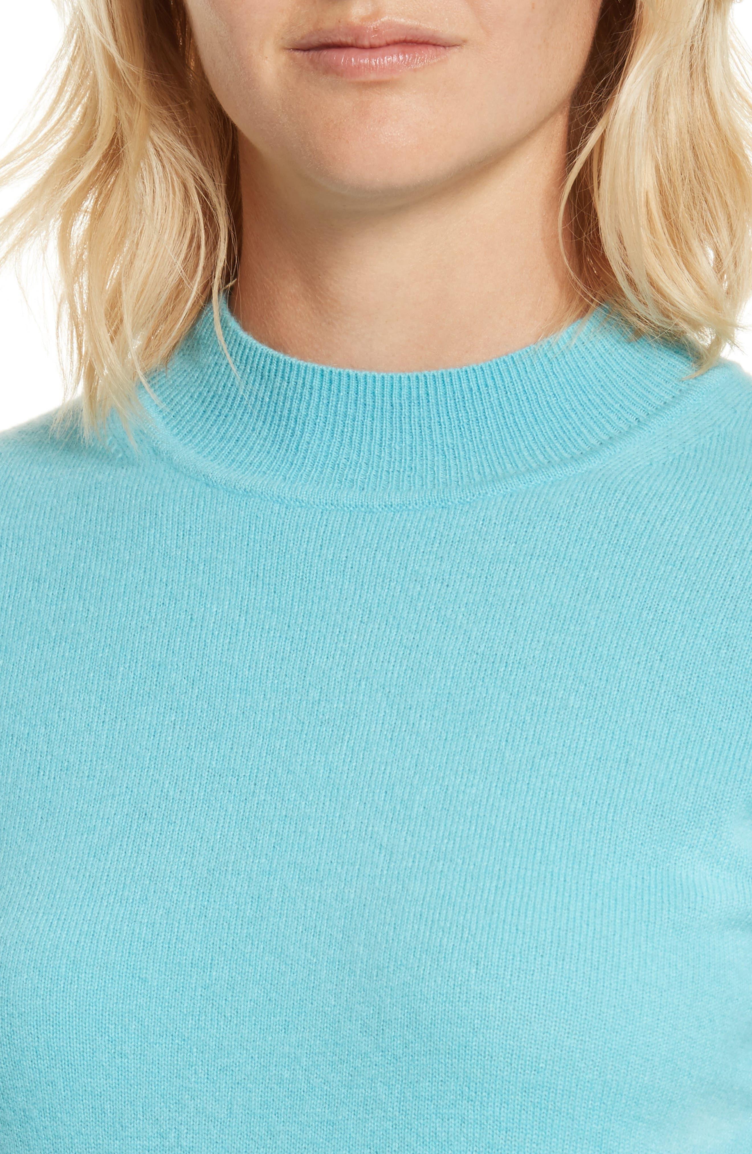 Alternate Image 4  - Diane von Furstenberg Mock Neck Cashmere Sweater