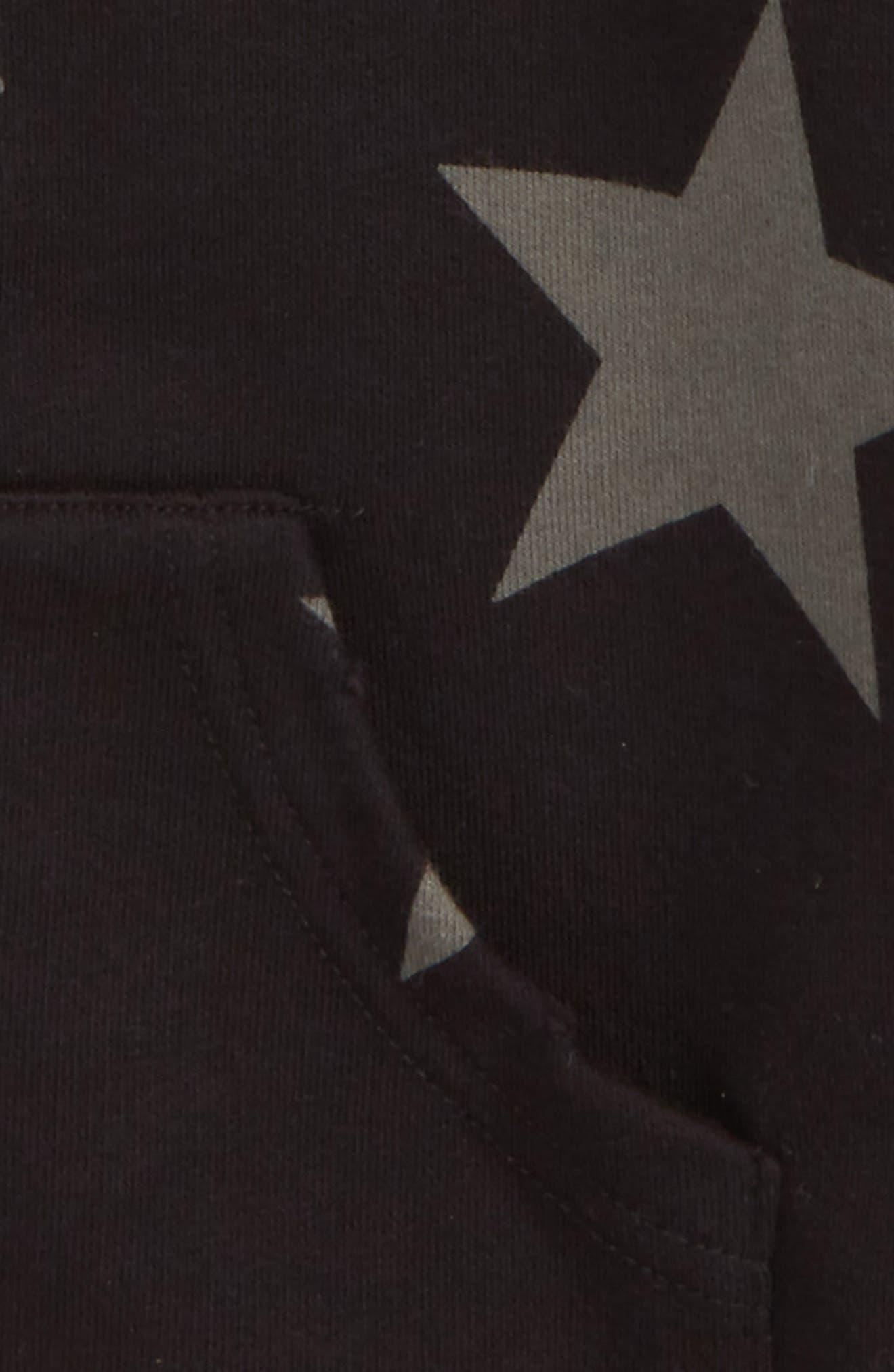 Star Zip Hoodie,                             Alternate thumbnail 2, color,                             Black