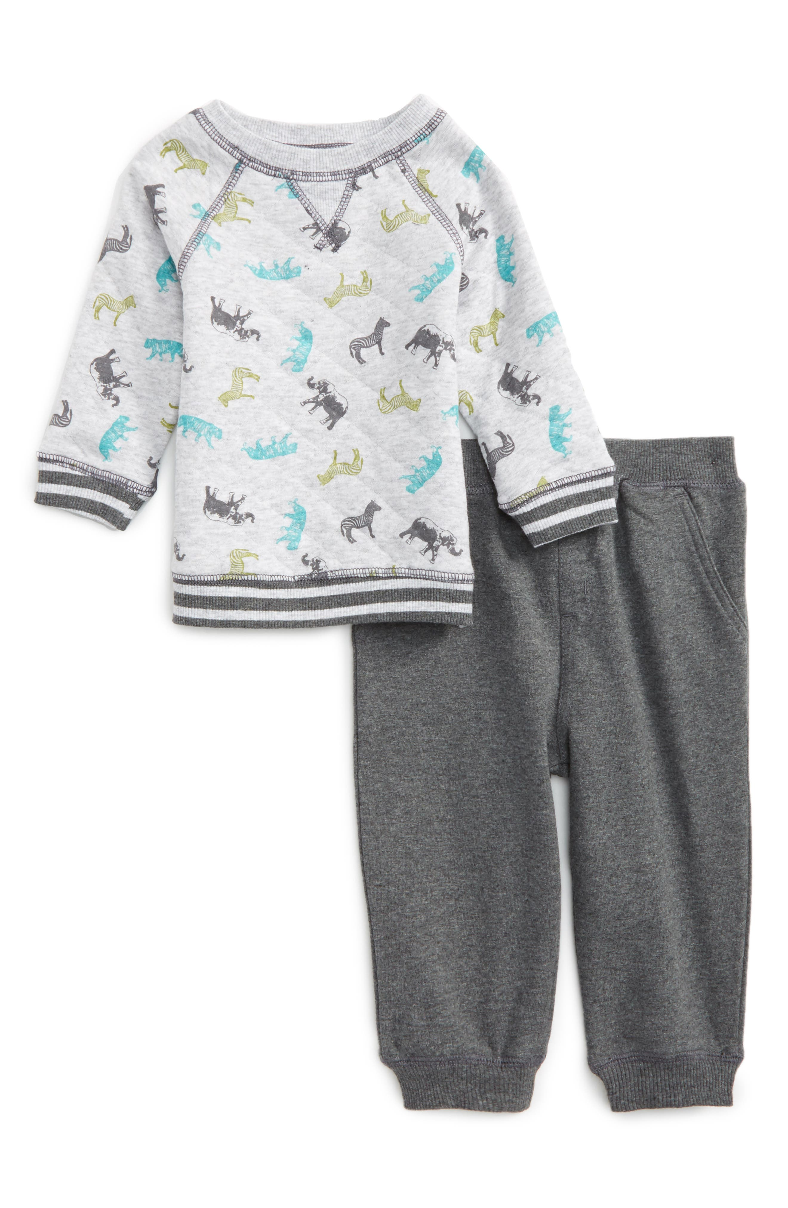 Little Me Safari Print Sweatshirt & Jogger Pants Set (Baby Boys)