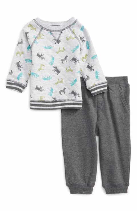 all baby boy little me clothes bodysuits footies tops more little me safari print sweatshirt jogger pants set baby boys