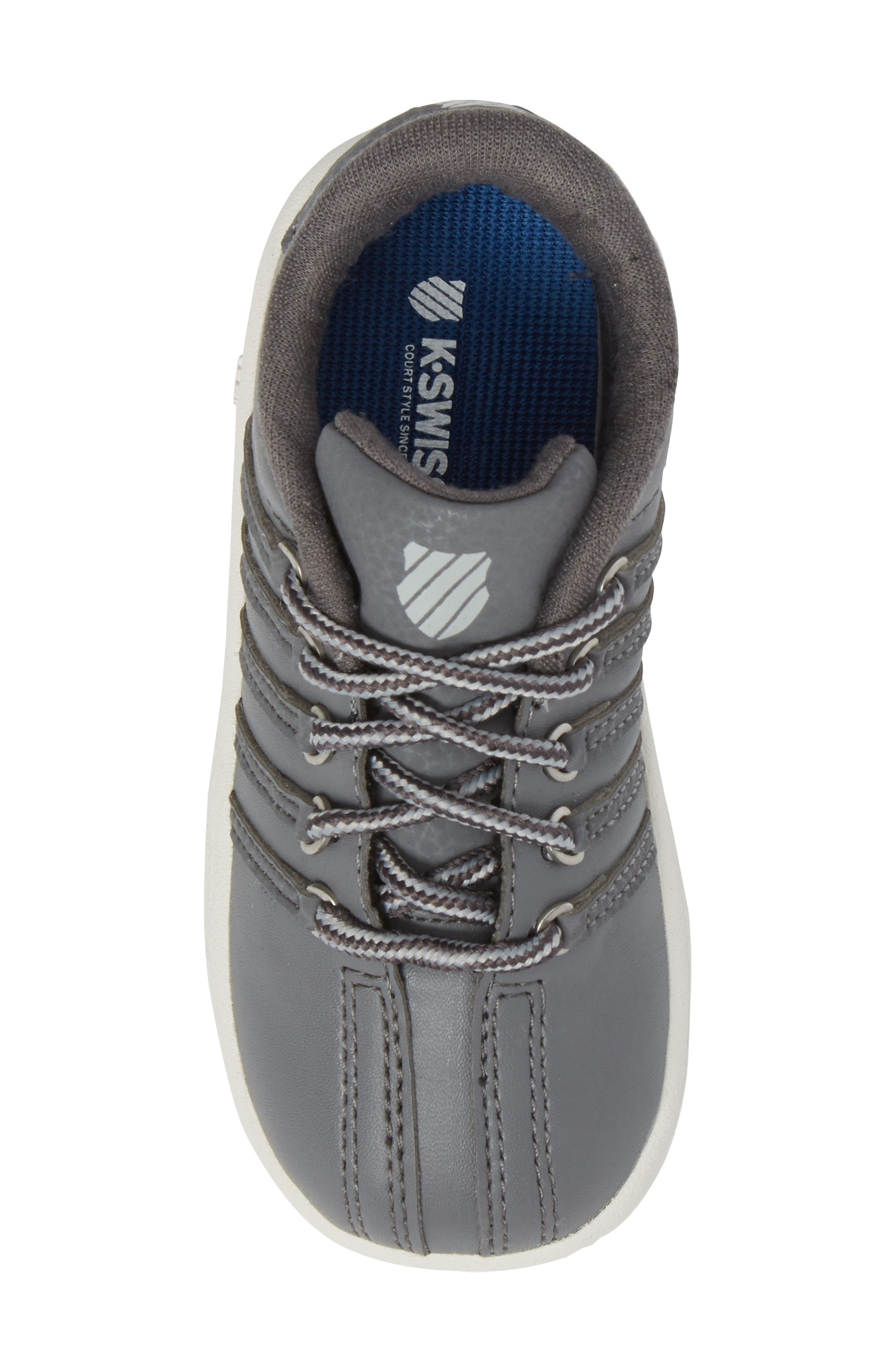 Classic VN Sneaker,                             Alternate thumbnail 5, color,                             Charcoal/ Storm/ Lily White