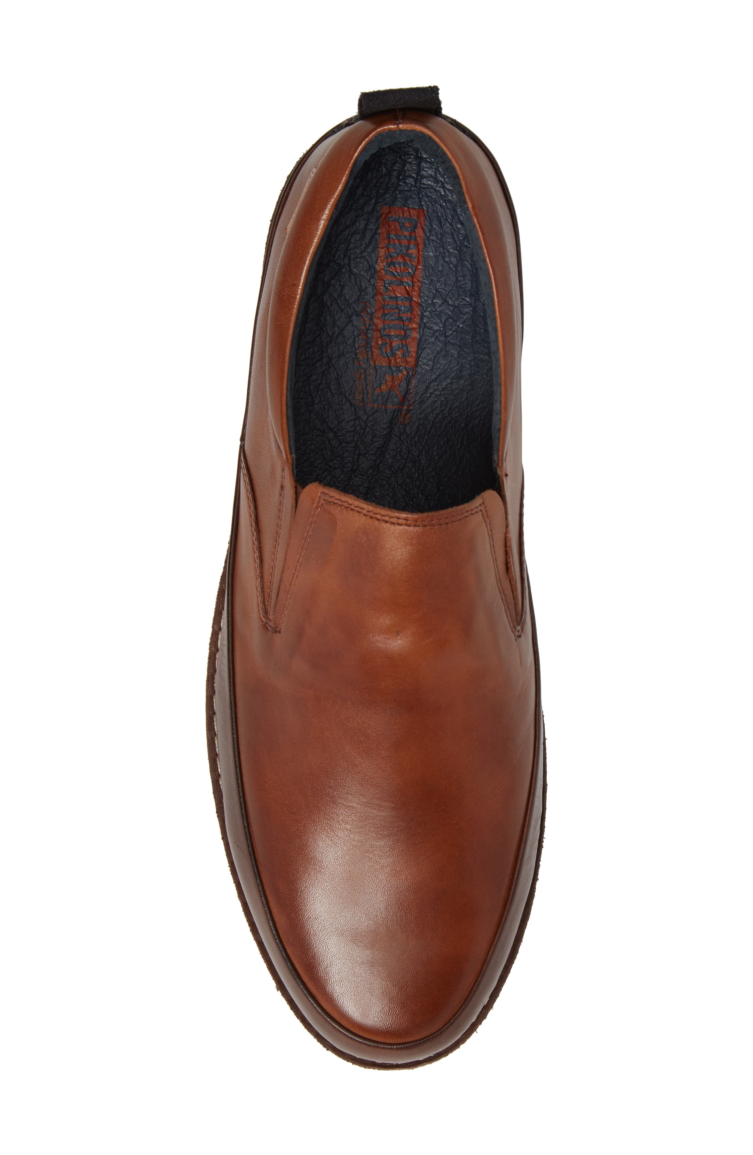 Biarritz Slip-On,                             Alternate thumbnail 5, color,                             Brown Leather