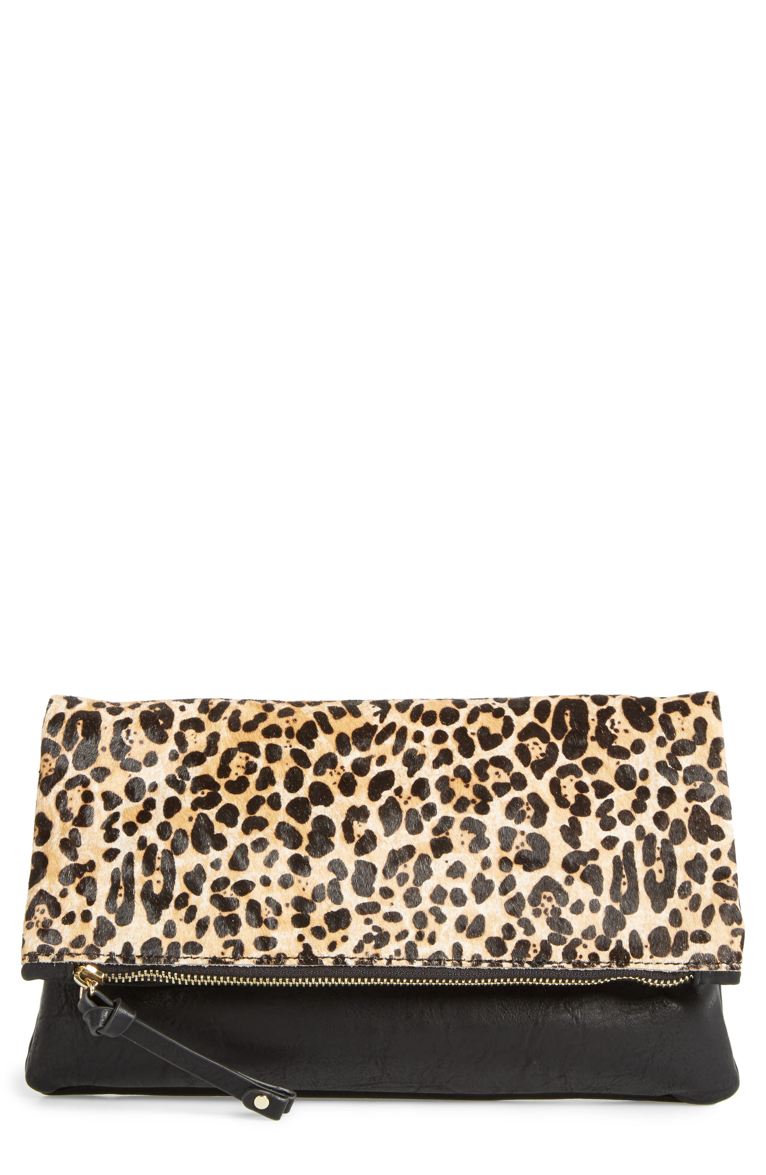 SOLE SOCIETY Marlena Faux Leather Foldover Clutch