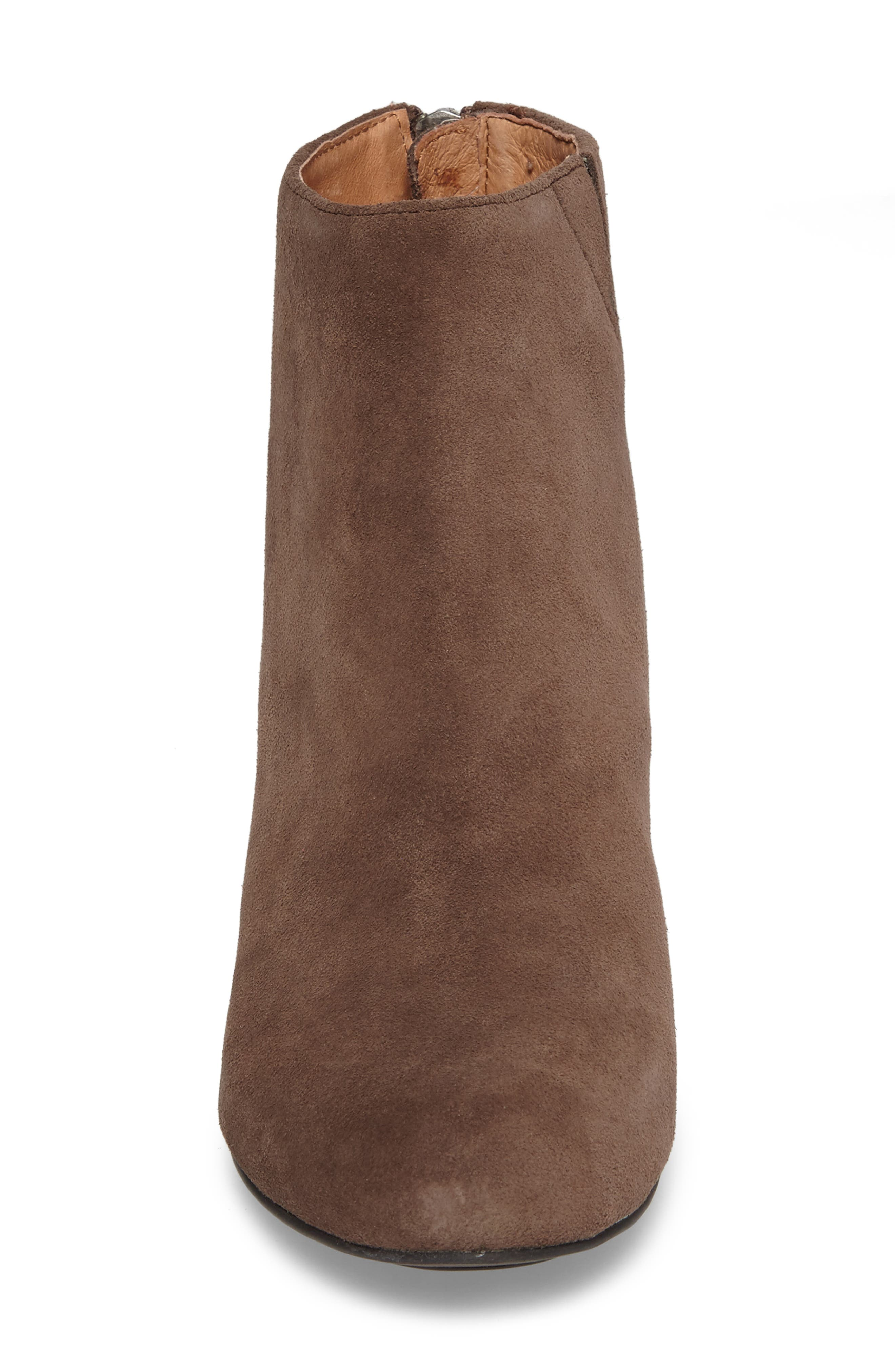 by Kenneth Cole Vicki Wedge Bootie,                             Alternate thumbnail 5, color,                             Dark Brown Suede