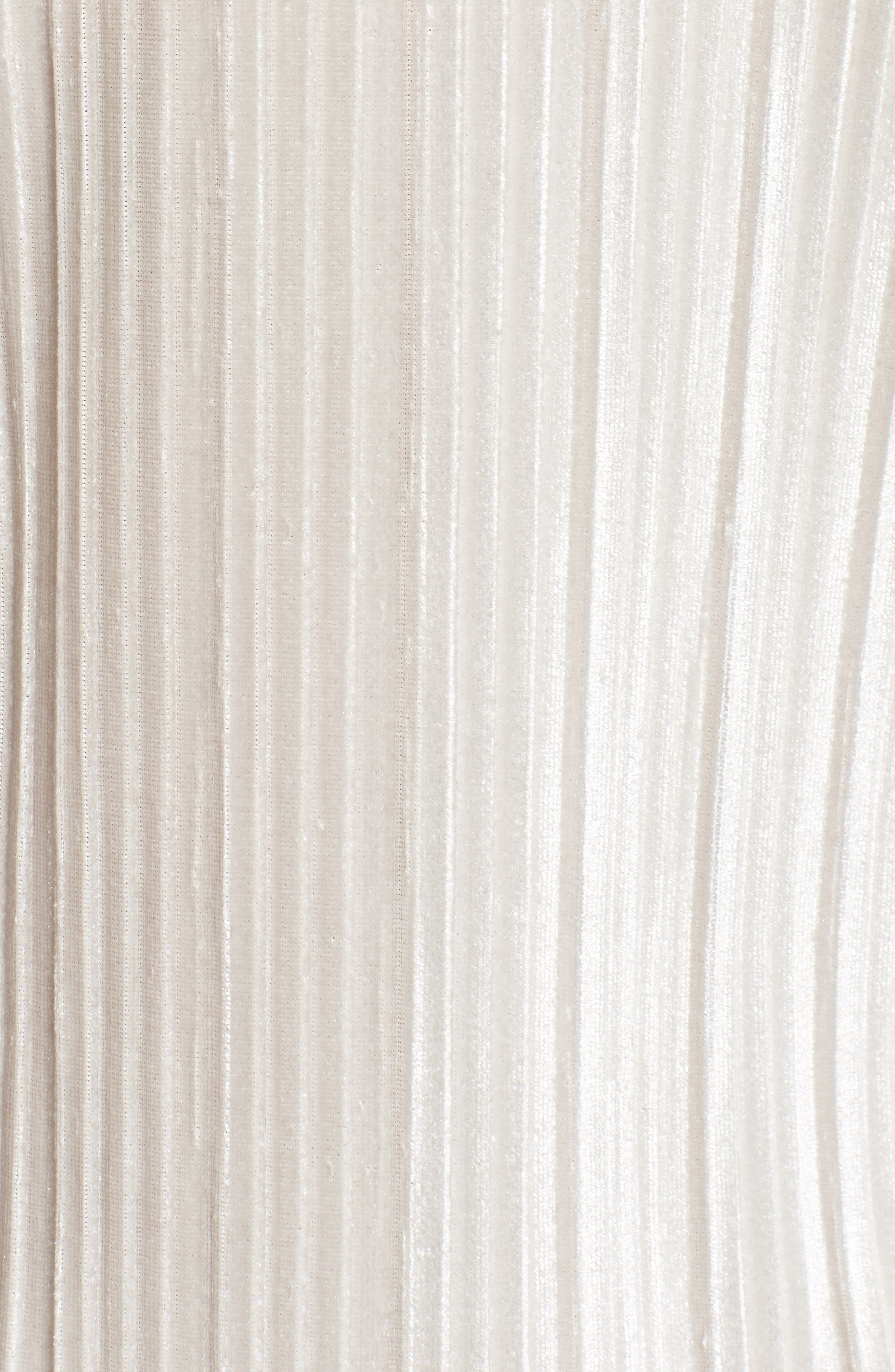 Pleated Midi Dress,                             Alternate thumbnail 5, color,                             Grey Chateau