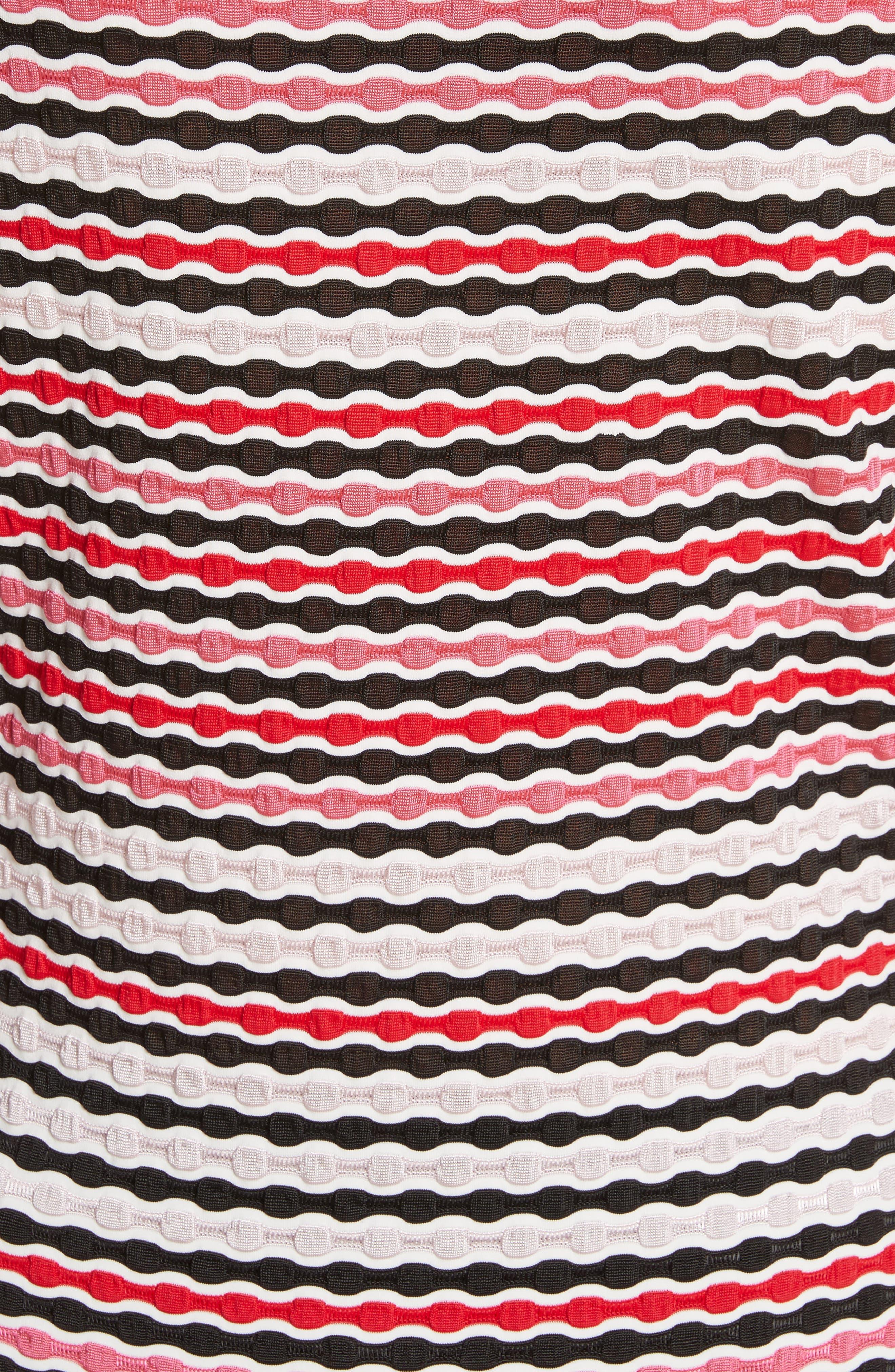 Multi Wavy Jersey Tee,                             Alternate thumbnail 6, color,                             Hibiscus Multi