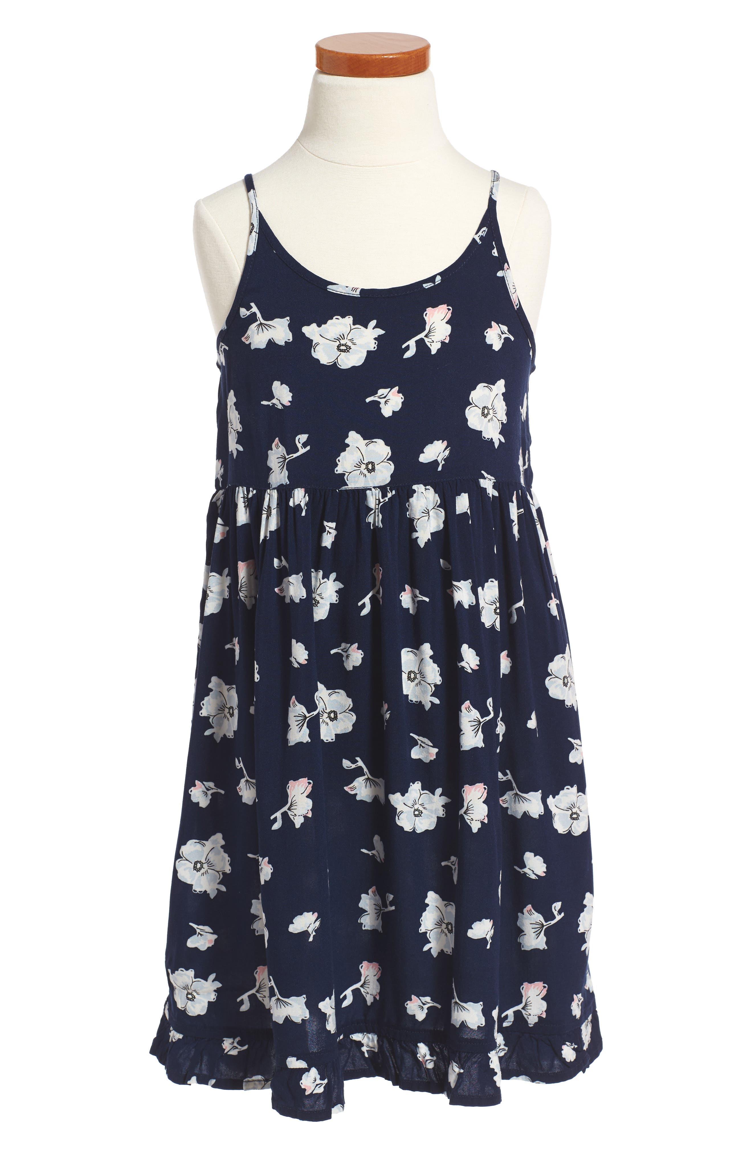 Easy Tee & Dress Set,                             Alternate thumbnail 3, color,                             Navy Peacoat Feminine Floral