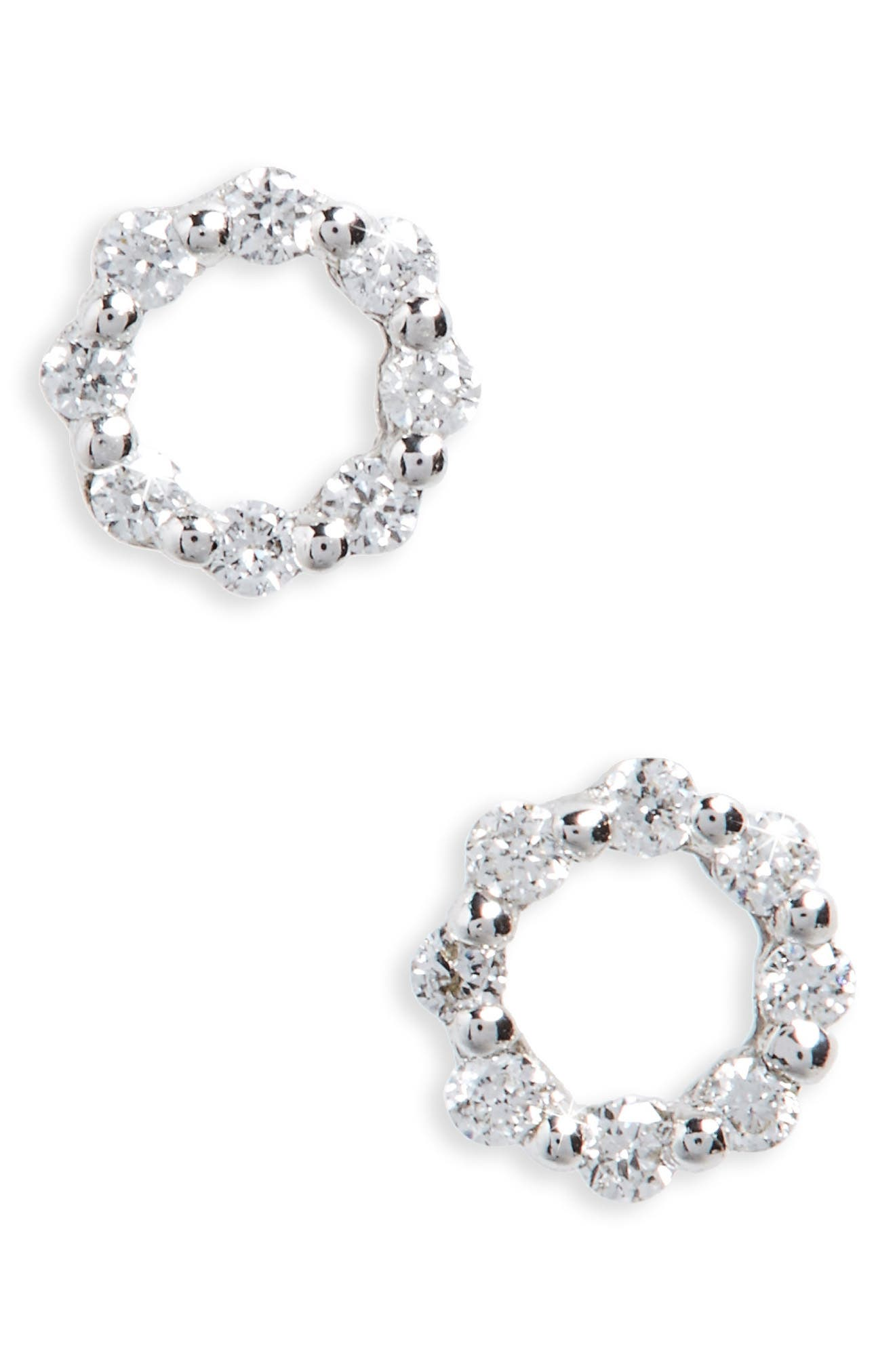BONY LEVY Simple Obsessions Diamond Stud Earrings