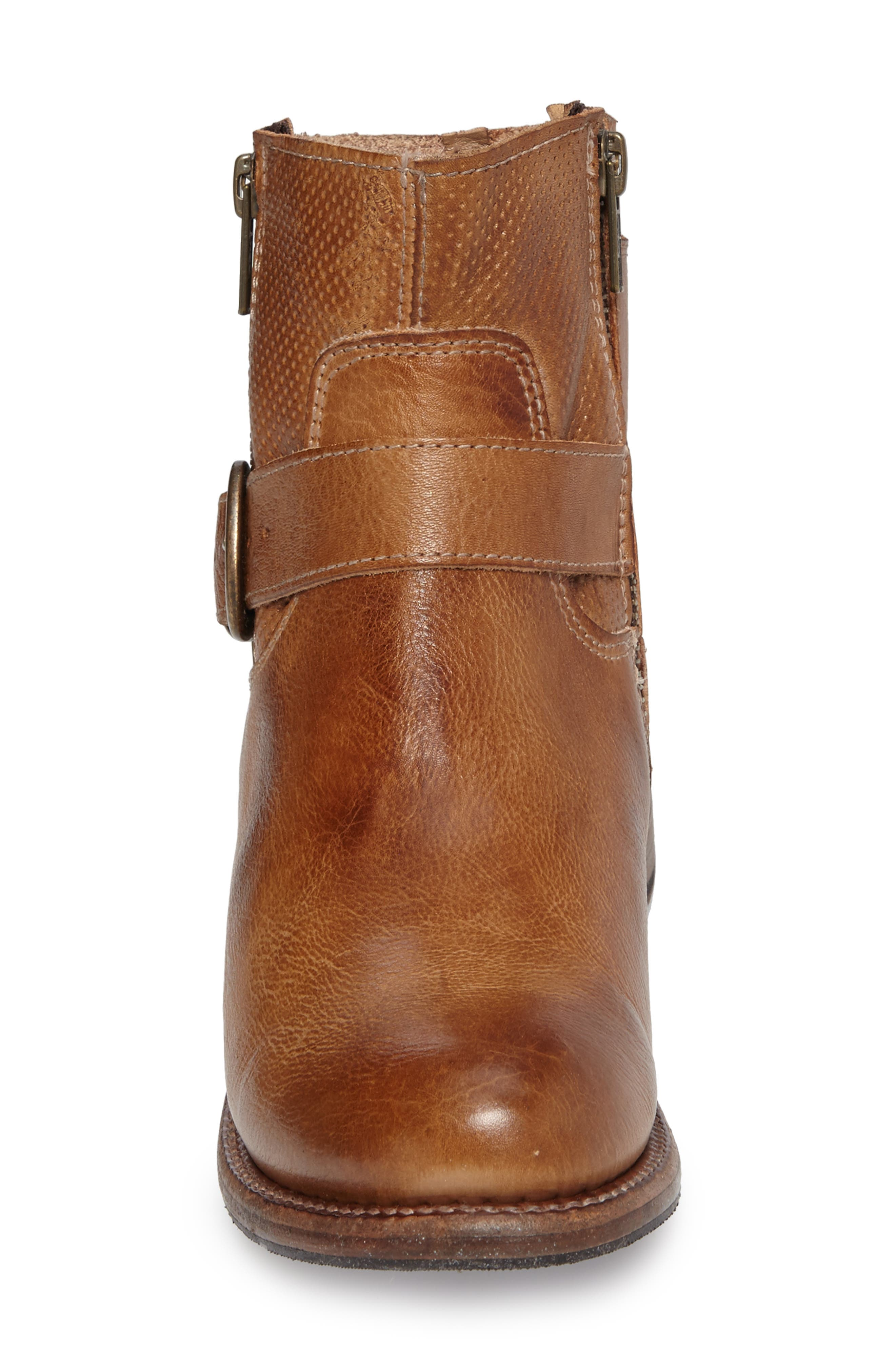 Becca Buckle Boot,                             Alternate thumbnail 4, color,                             Tan Rustic Leather