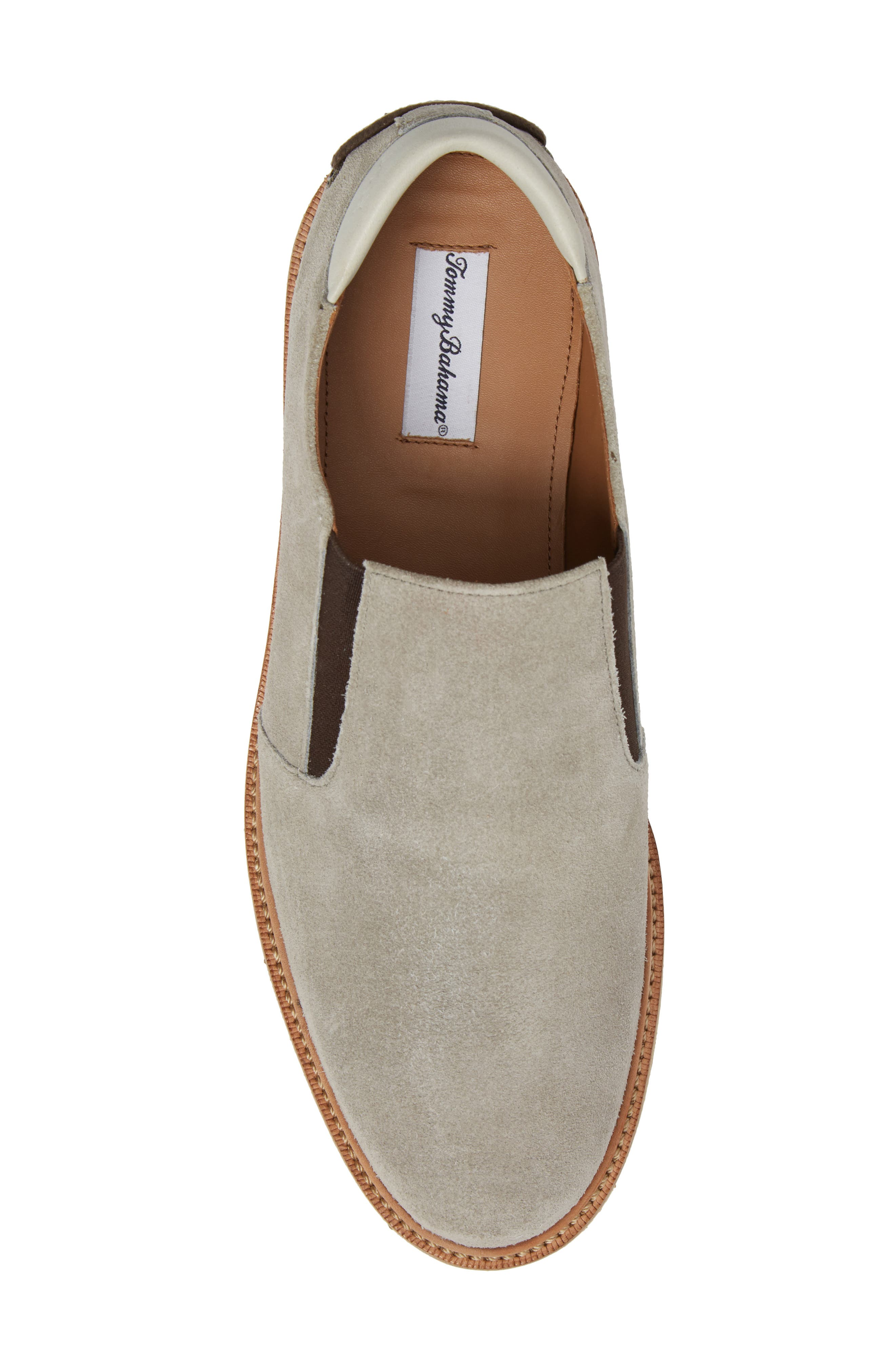 Linen Slip-On,                             Alternate thumbnail 5, color,                             Grey Suede