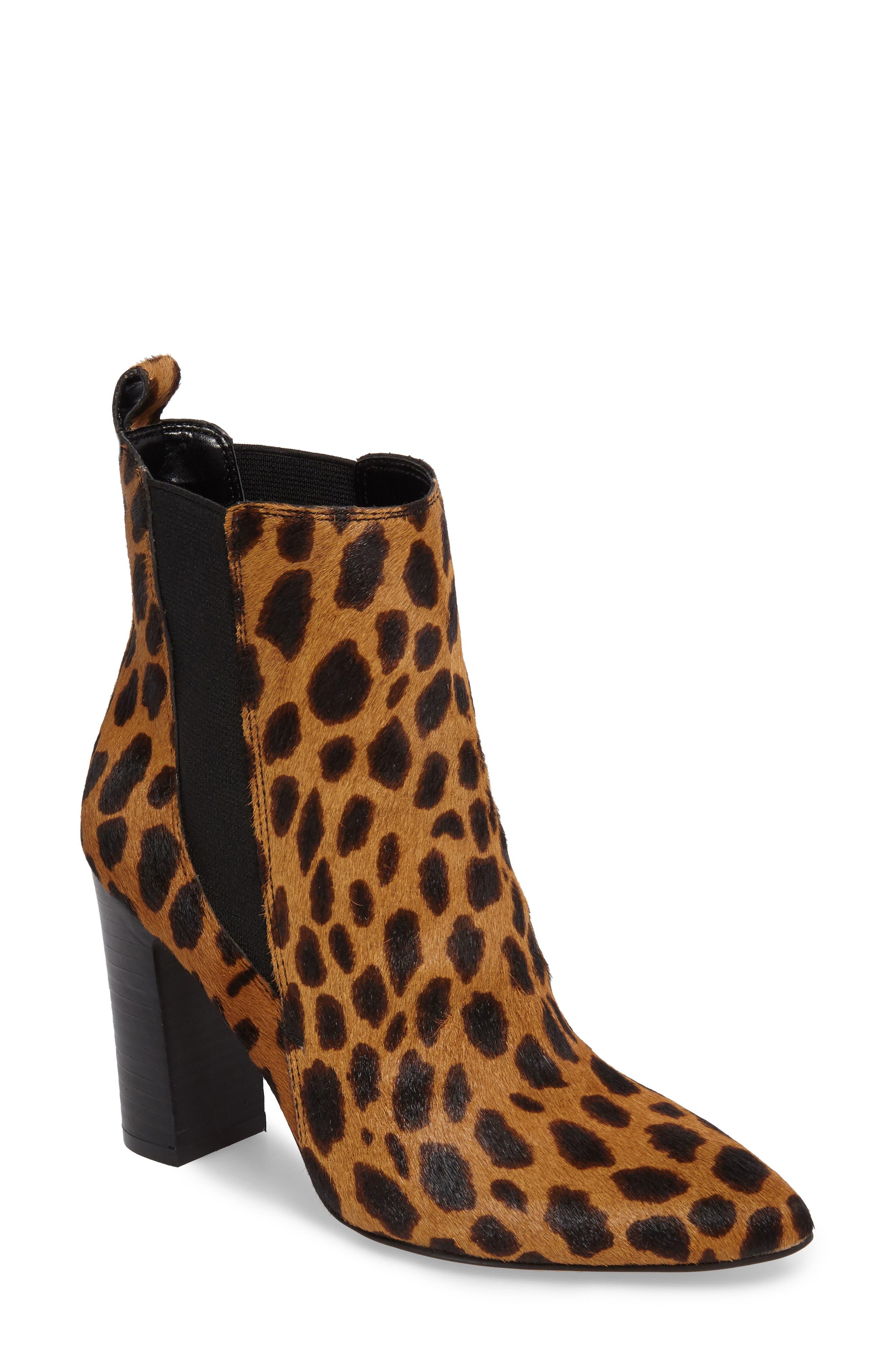 Britsy Bootie,                         Main,                         color, Leopard Calf Hair