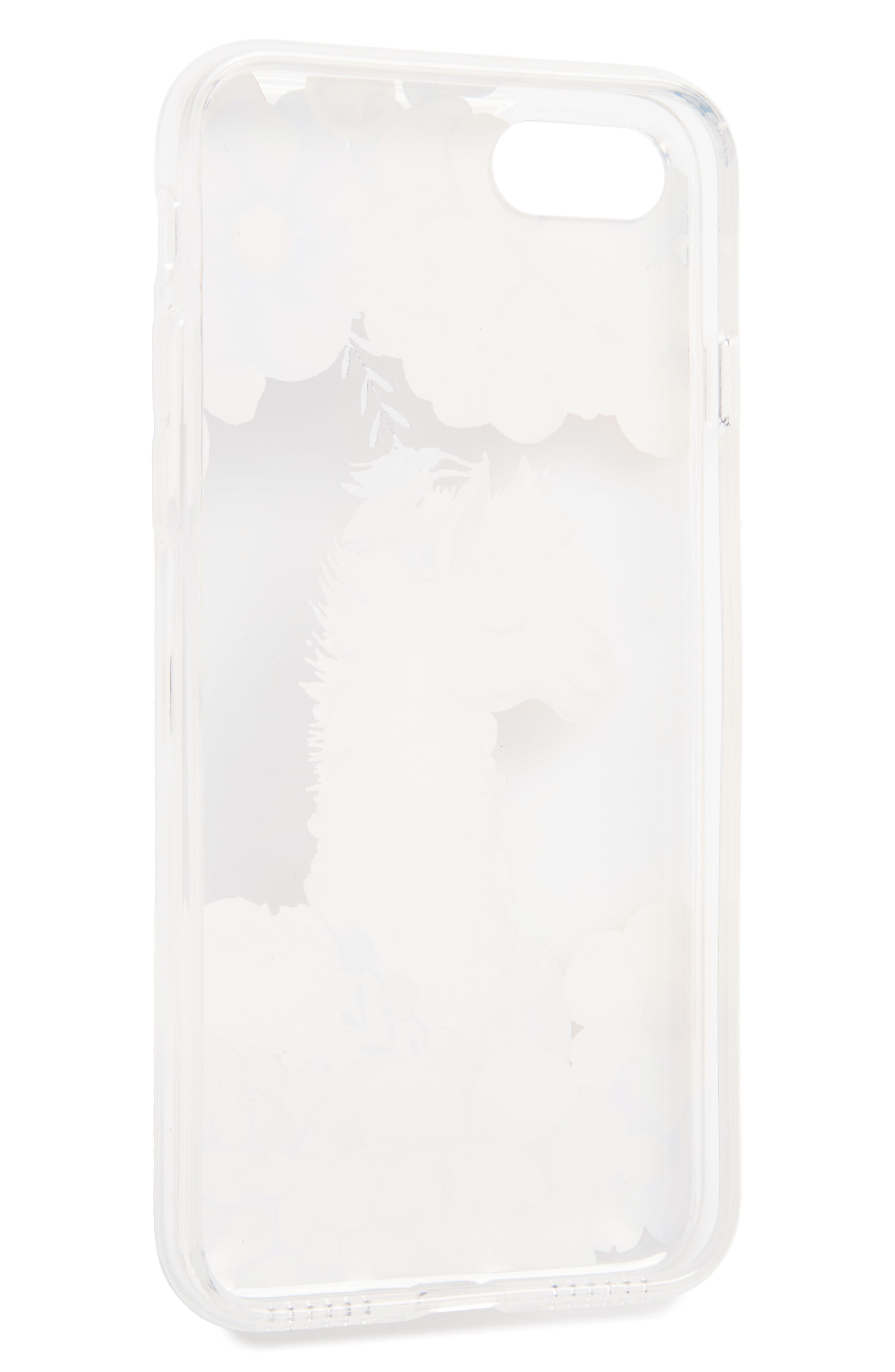 Llama iPhone 7 Case,                             Alternate thumbnail 2, color,                             Clear/ White