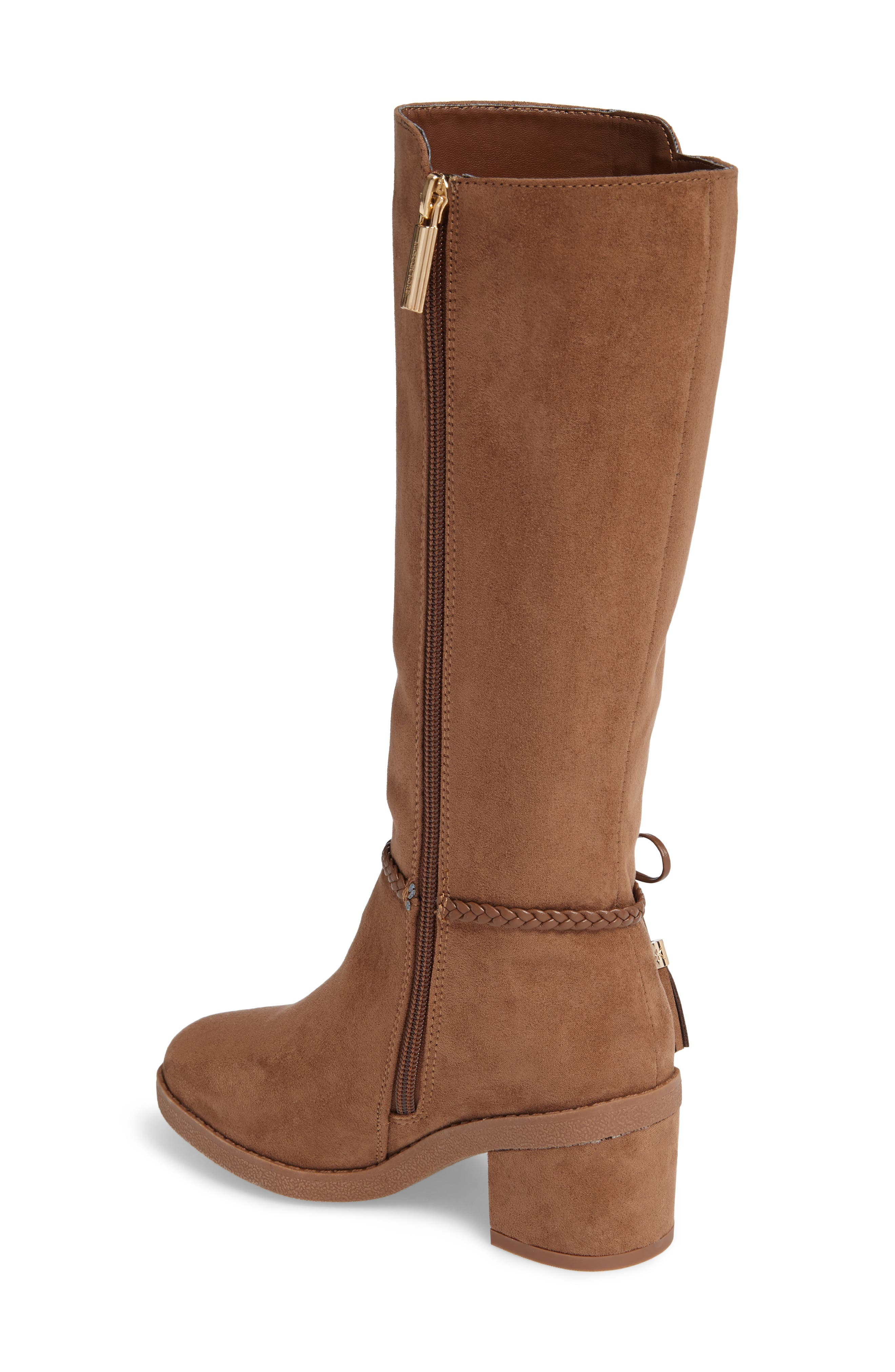 Fawn Simmy Riding Boot,                             Alternate thumbnail 2, color,                             Caramel Faux Suede