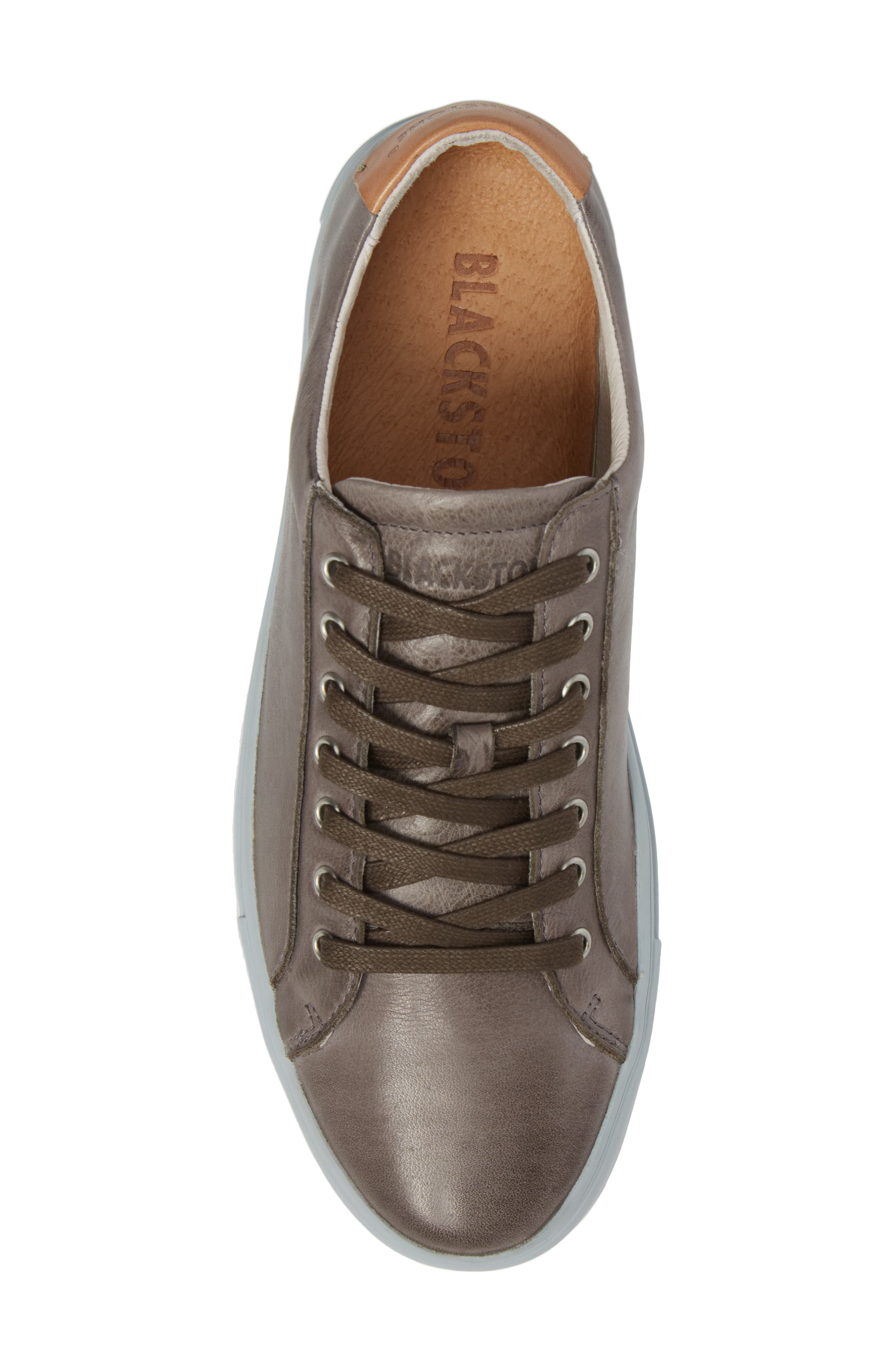 NM01 7 Eyelet Sneaker,                             Alternate thumbnail 5, color,                             Charcoal Leather