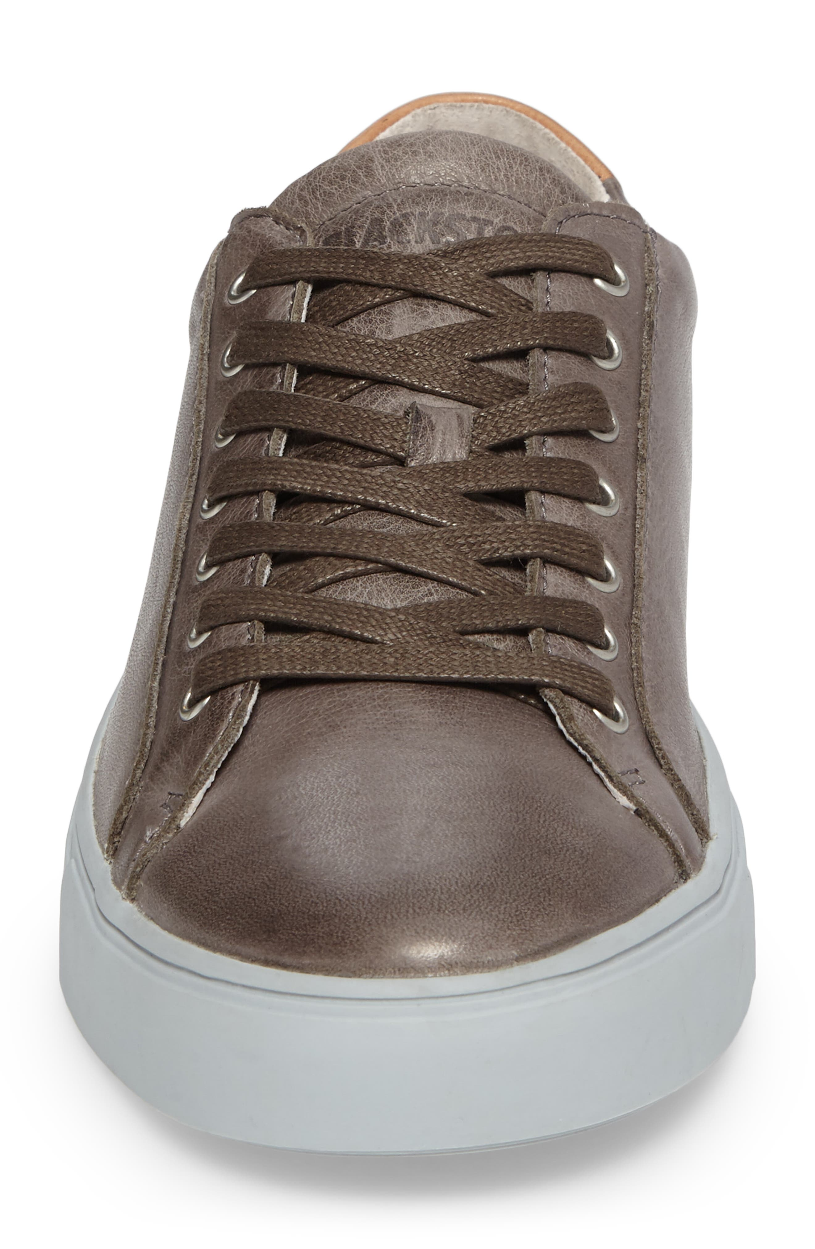 NM01 7 Eyelet Sneaker,                             Alternate thumbnail 4, color,                             Charcoal Leather