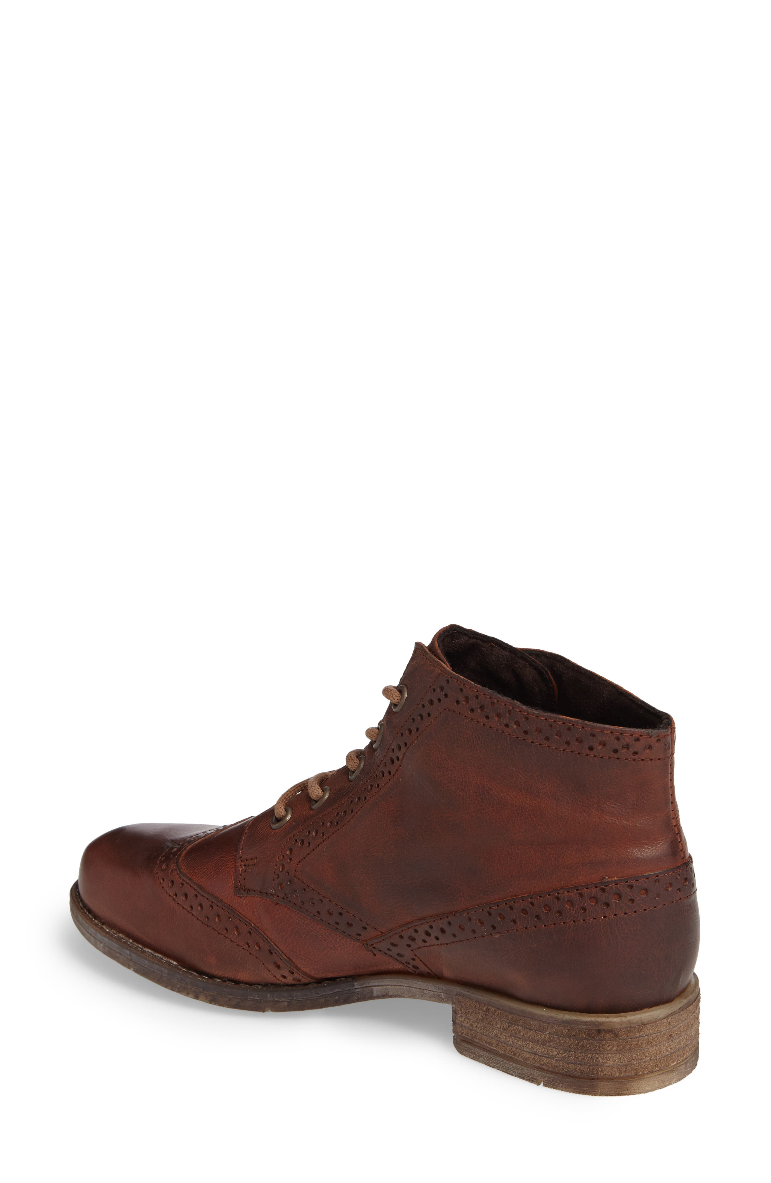 'Sienna 15' Wingtip Bootie,                             Alternate thumbnail 2, color,                             Camel Leather