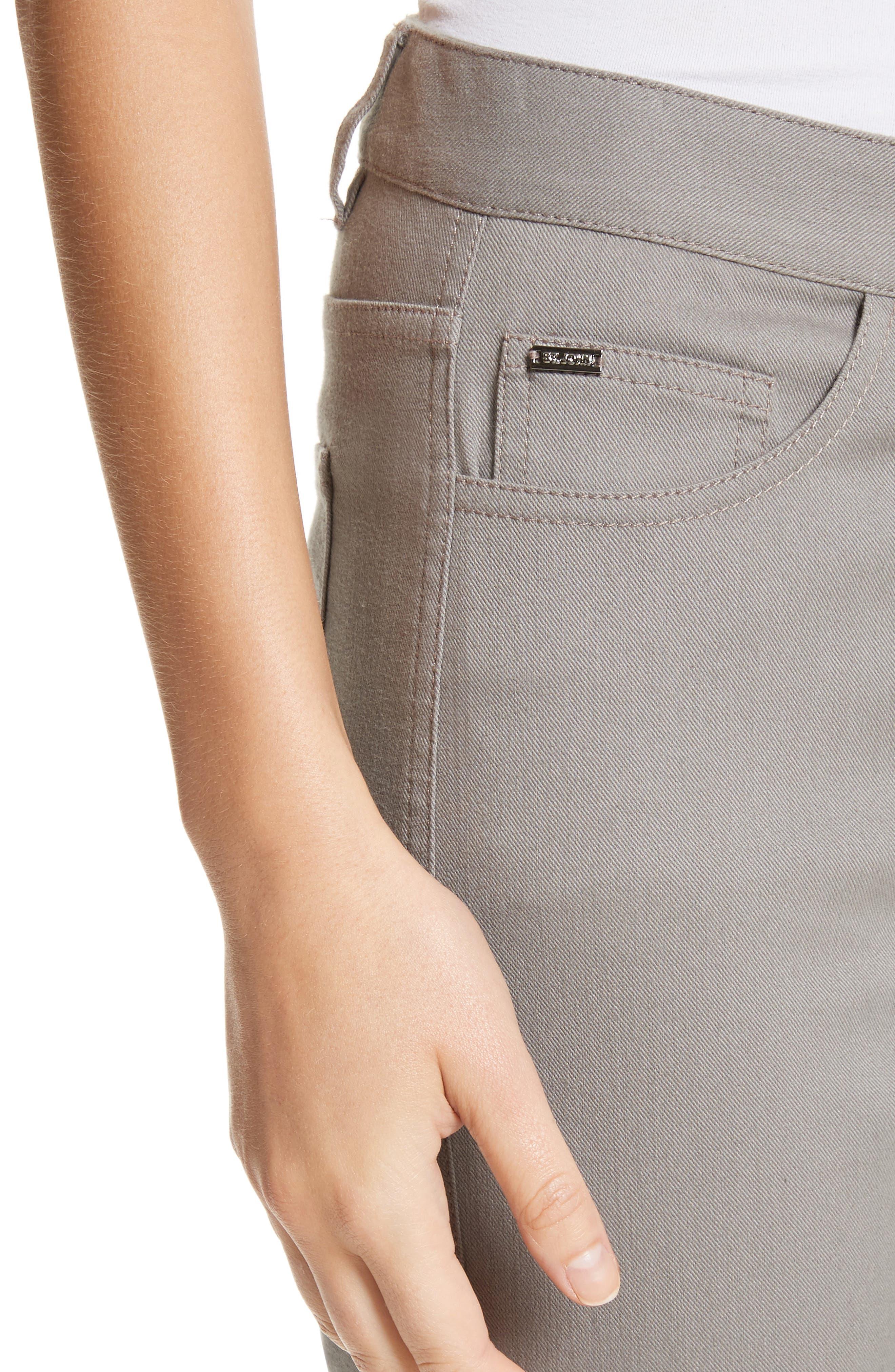 Bardot Double Dye Stretch Jeans,                             Alternate thumbnail 4, color,                             Travertine