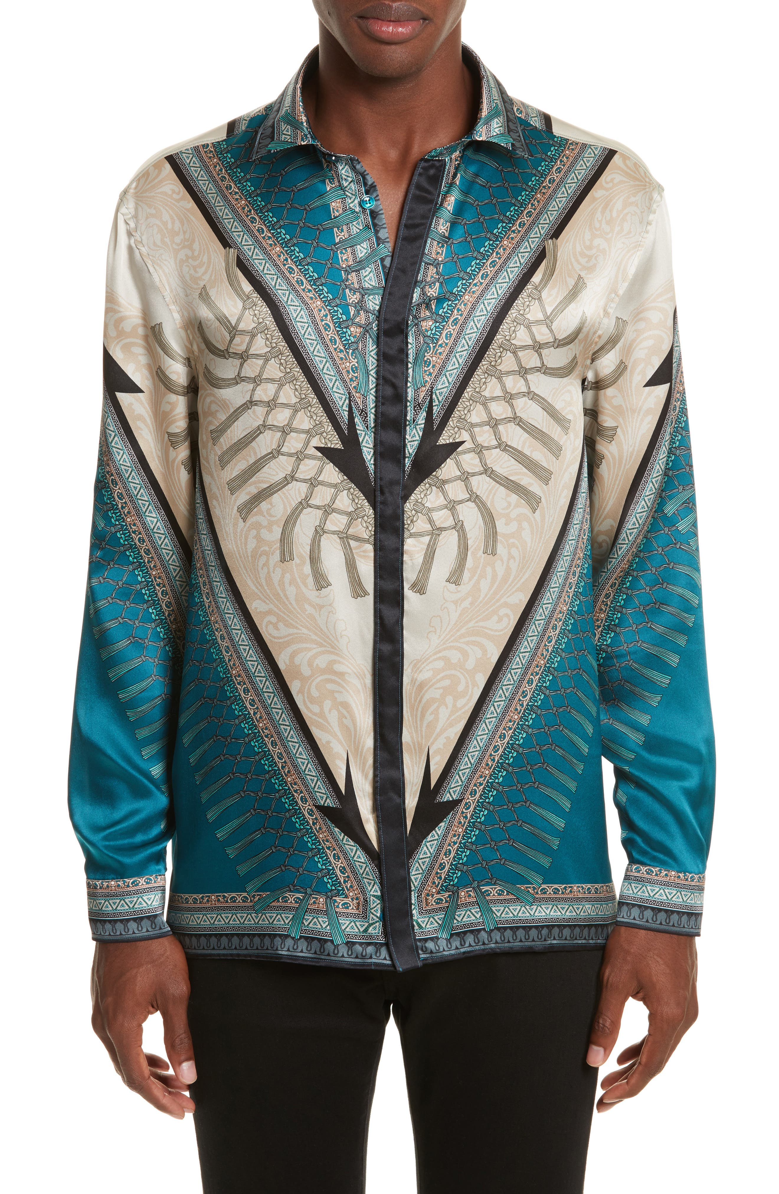 Versace Collection Filigreed Sport Shirt
