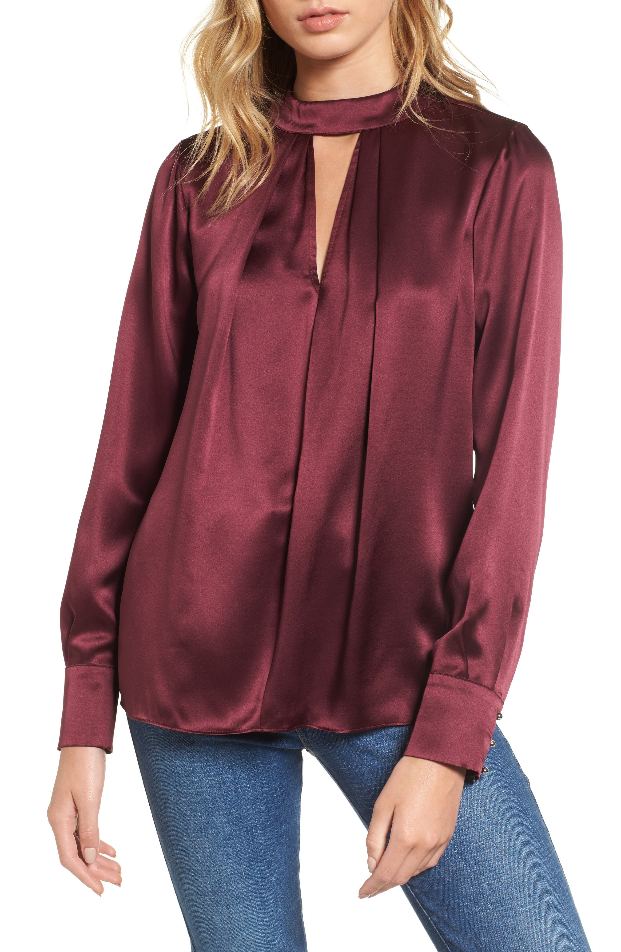 Parker Eleanor Silk Choker Blouse