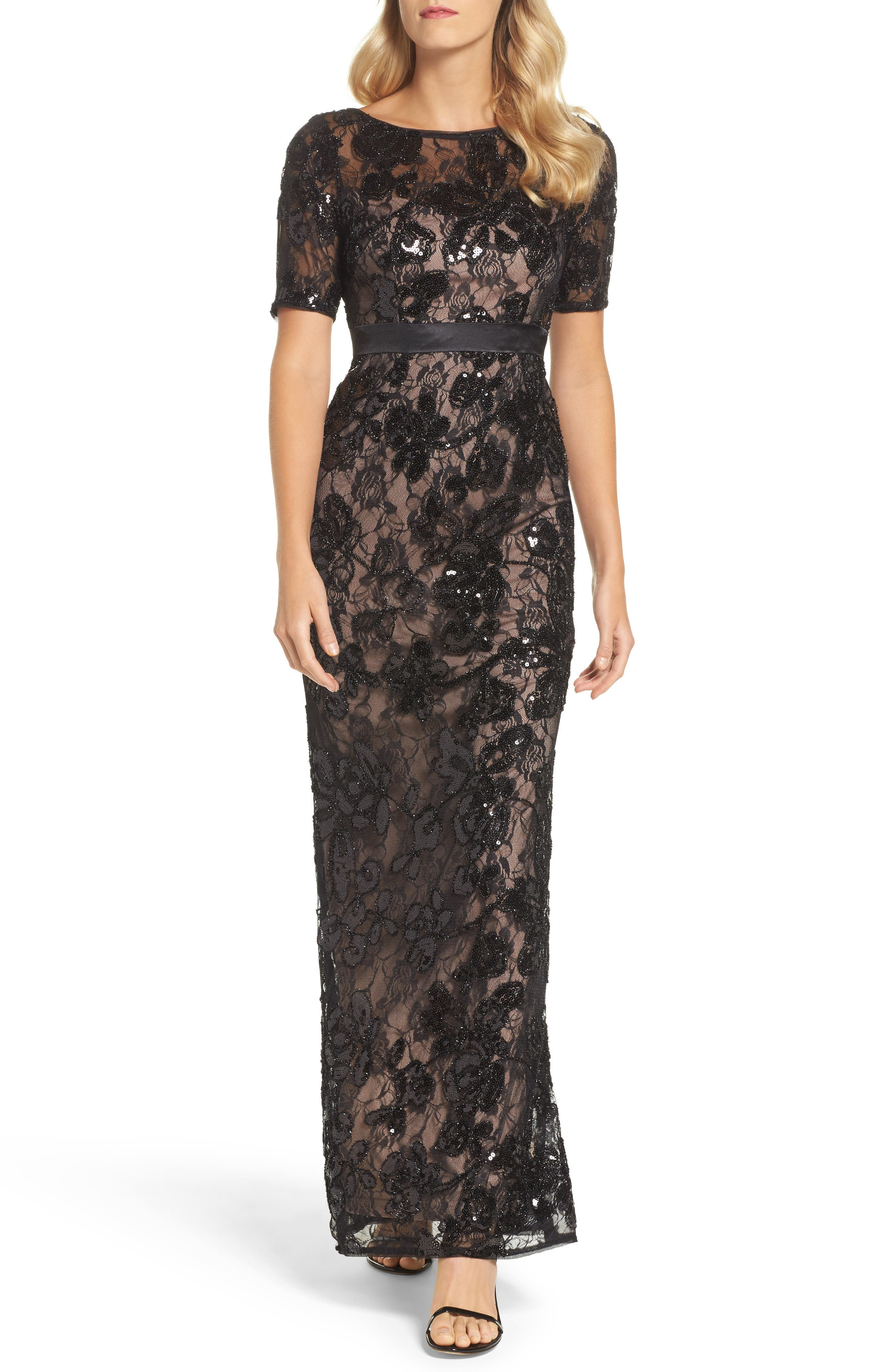 Alternate Image 1 Selected - Adrianna Papell Sequin Lace Gown