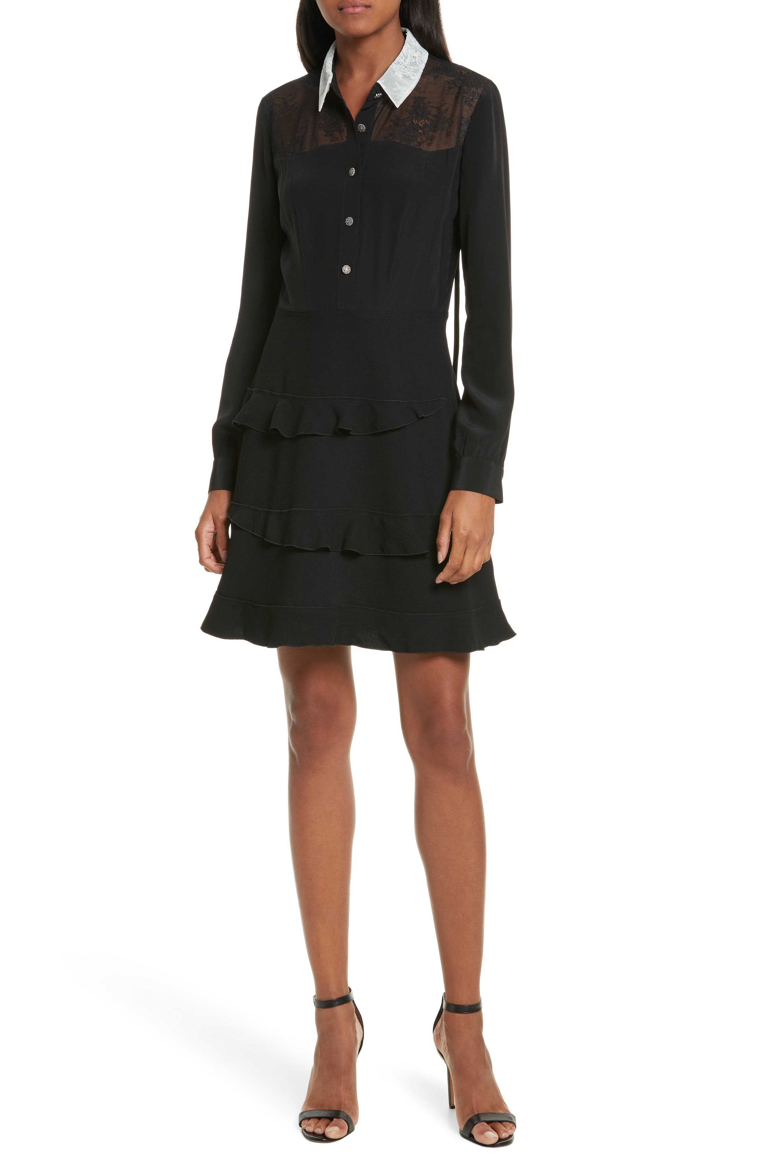 The Kooples Trompe l'Oeil Shirtdress