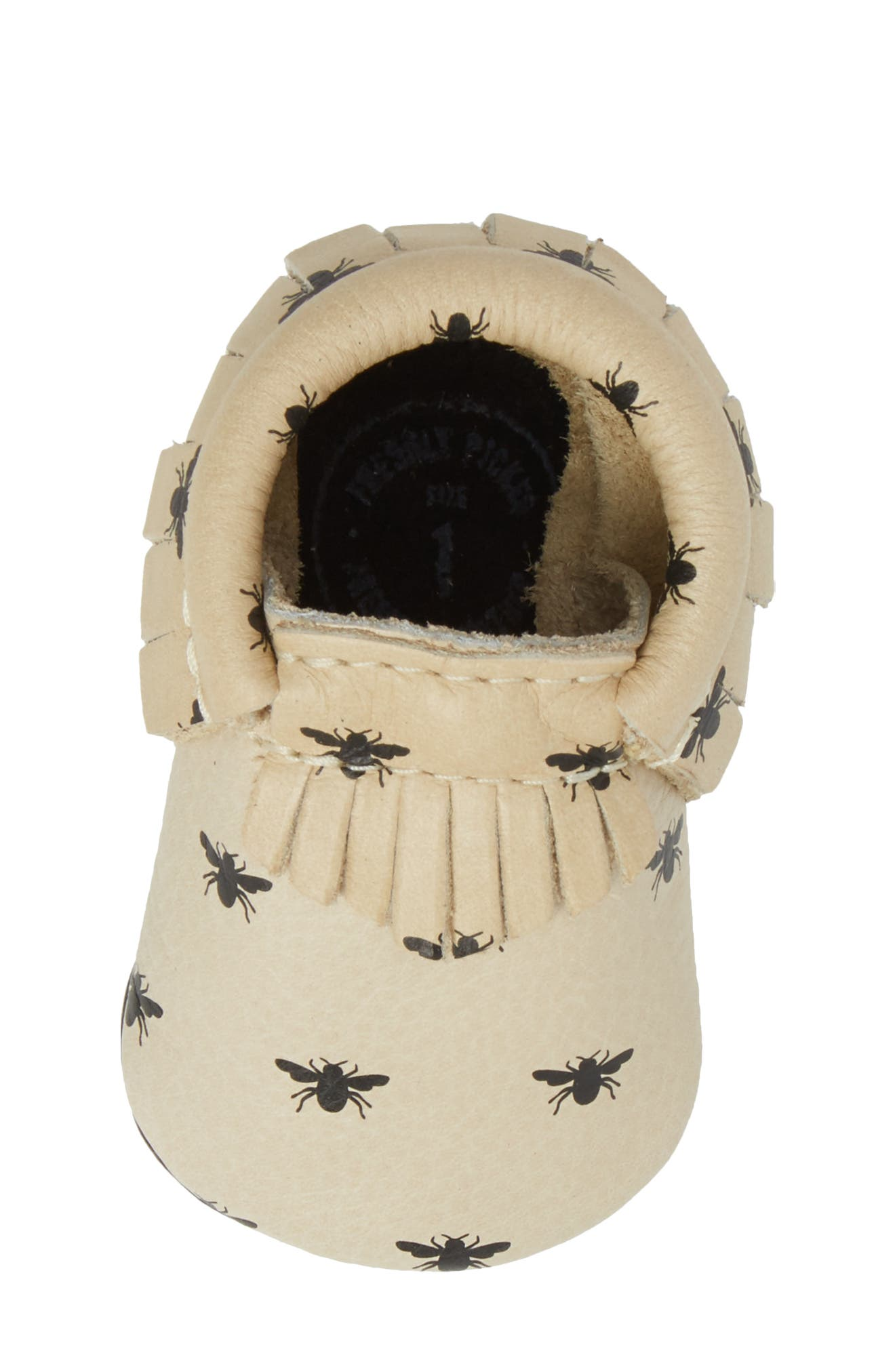 Alternate Image 5  - Freshly Picked Honeybee Print Moccasin (Baby)