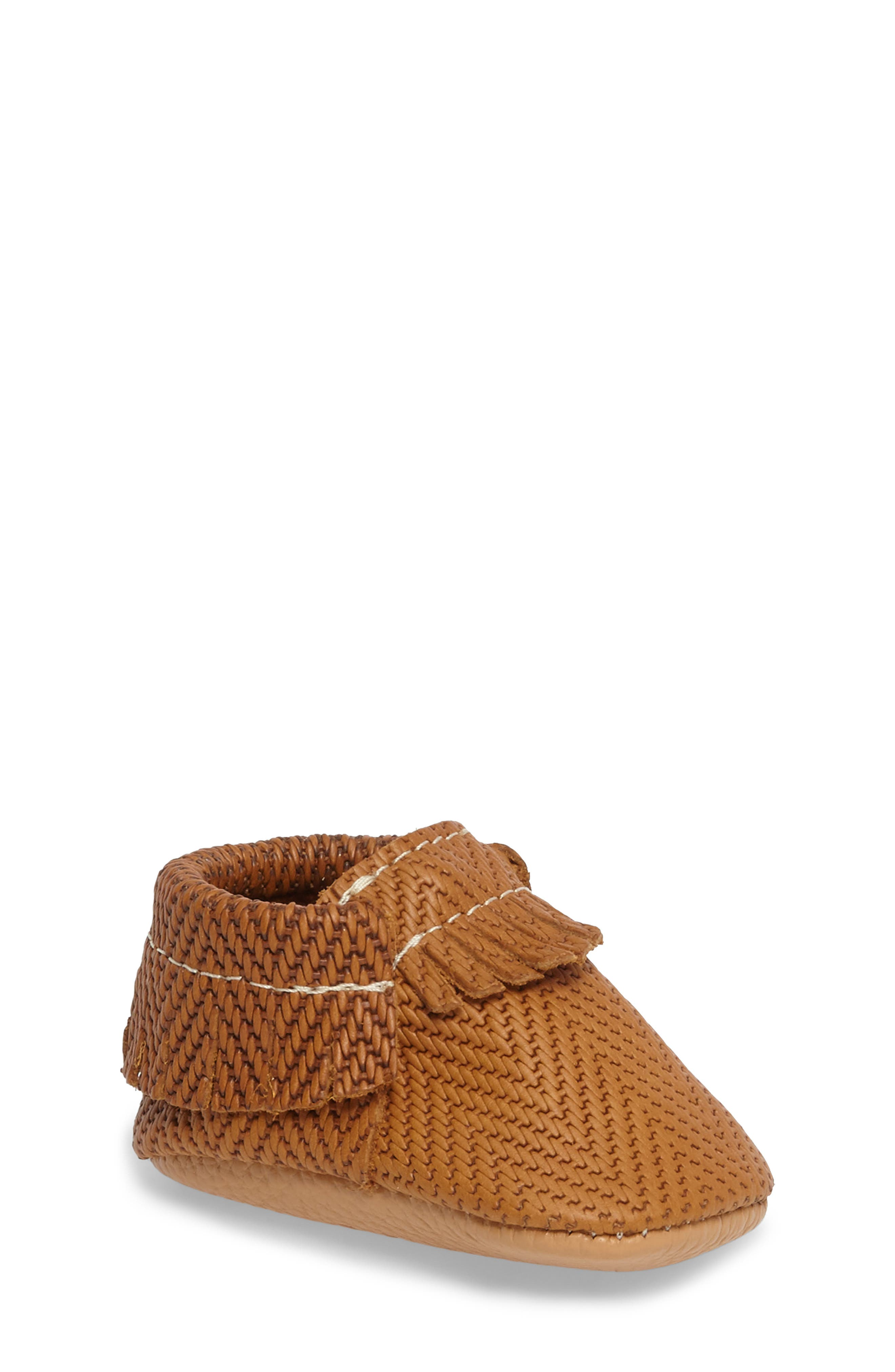 Freshly Picked Chevron Woven Moccasin (Baby)
