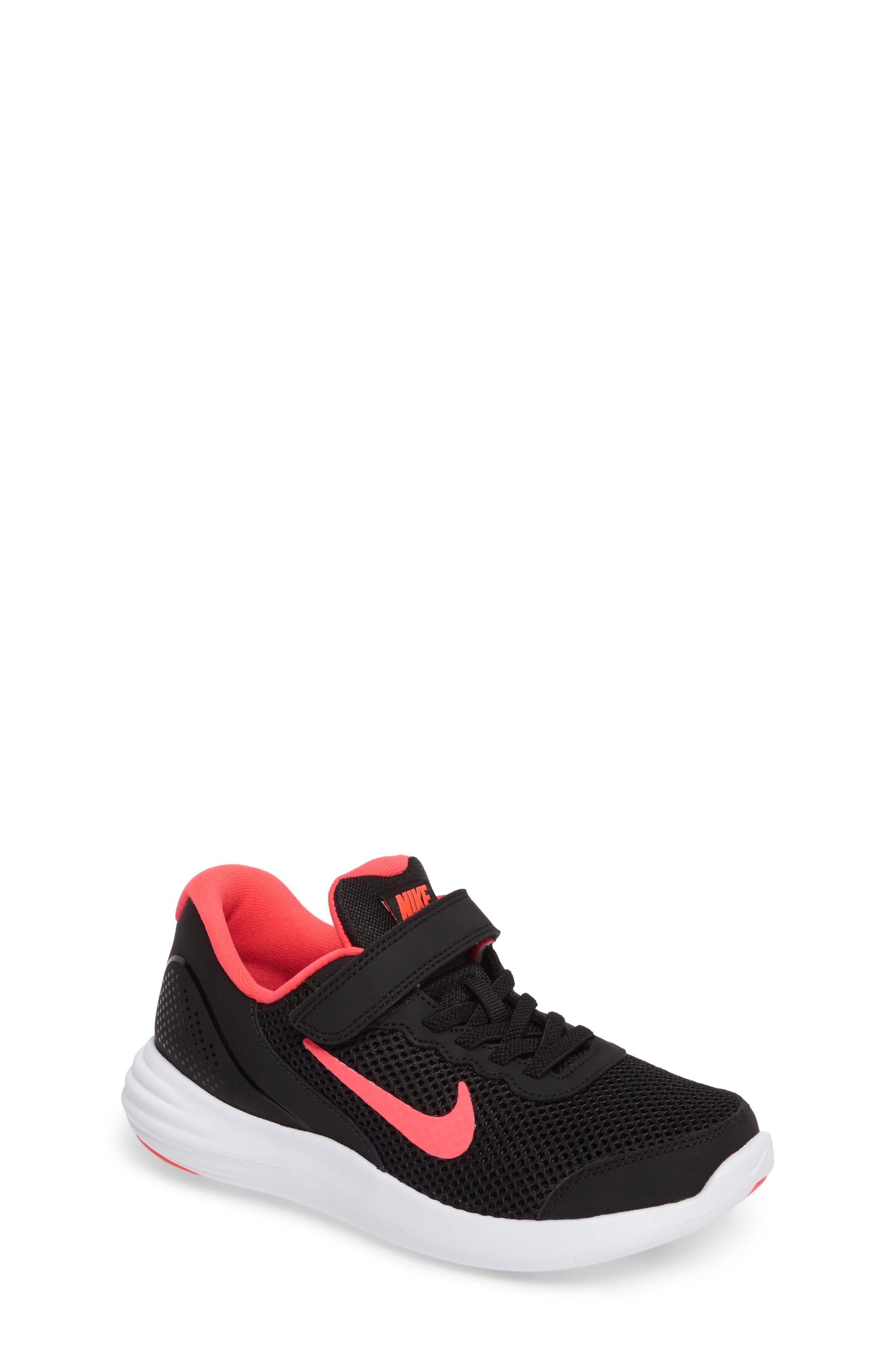 Lunar Apparent Sneaker,                             Main thumbnail 1, color,                             Black/ Racer Pink/ White
