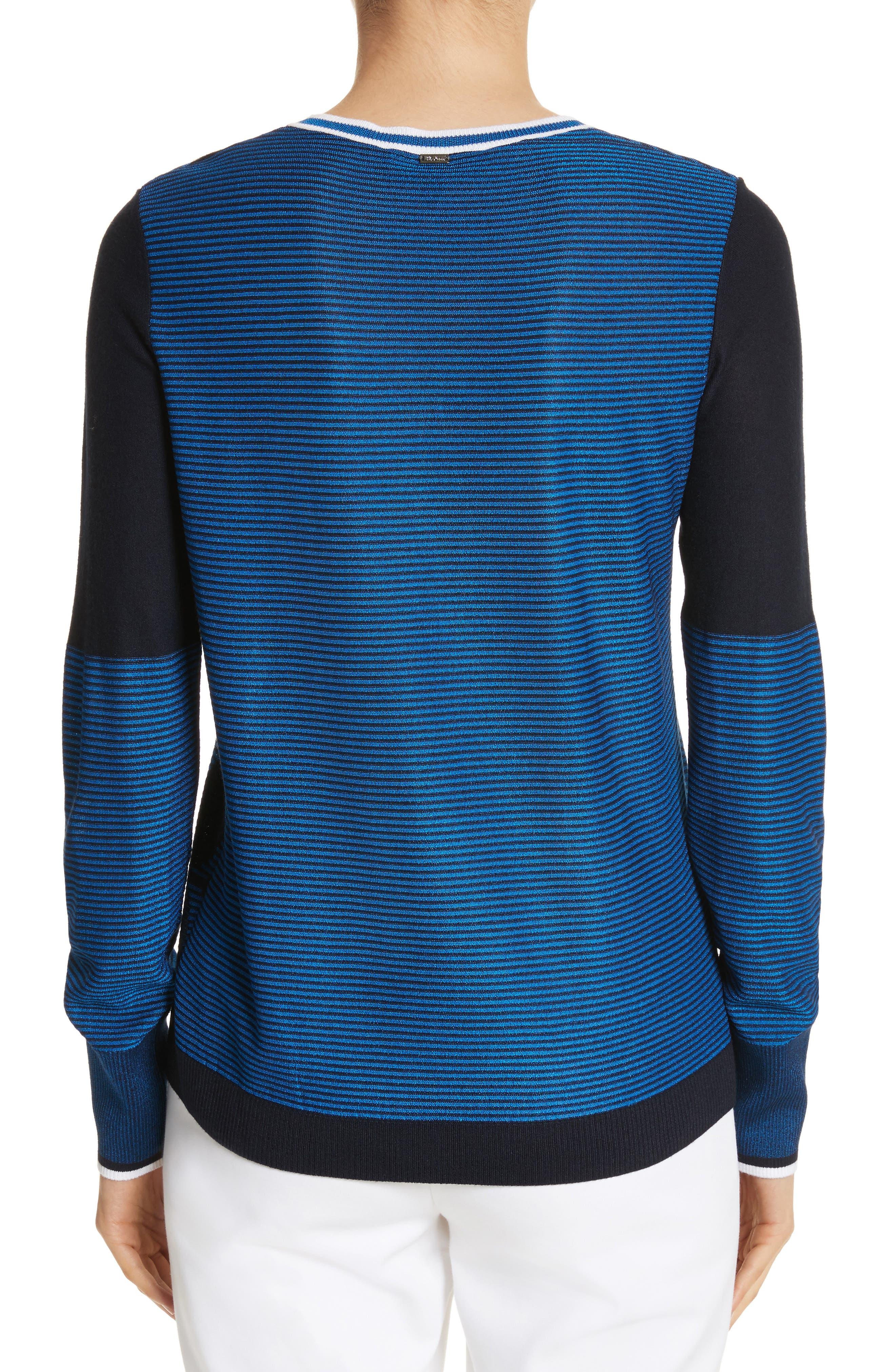 Jacquard Knit Sweater,                             Alternate thumbnail 2, color,                             Navy/ Niagara/ Bianco