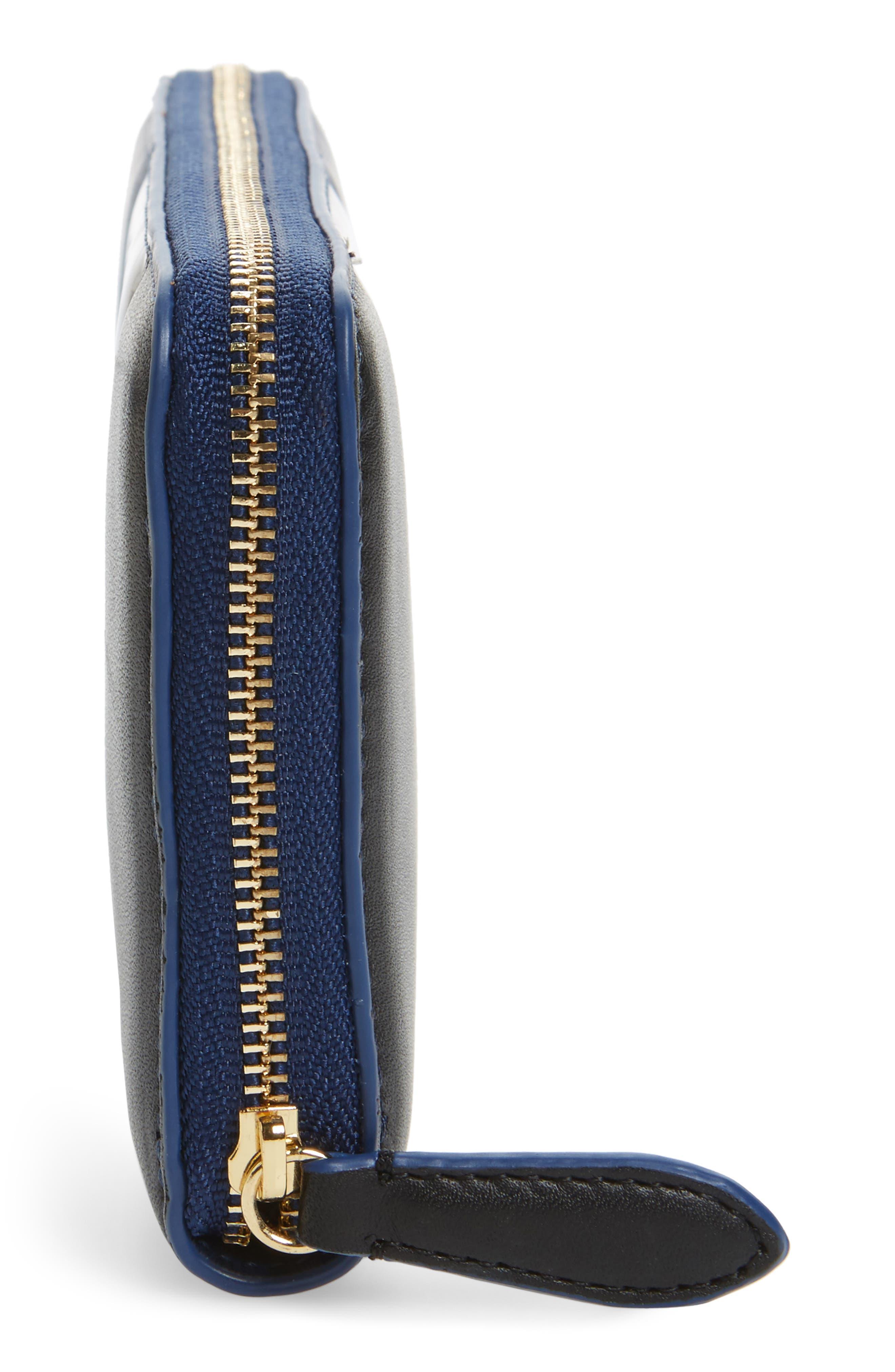 Alternate Image 4  - Diane von Furstenberg Colorblock Leather Continental Wallet