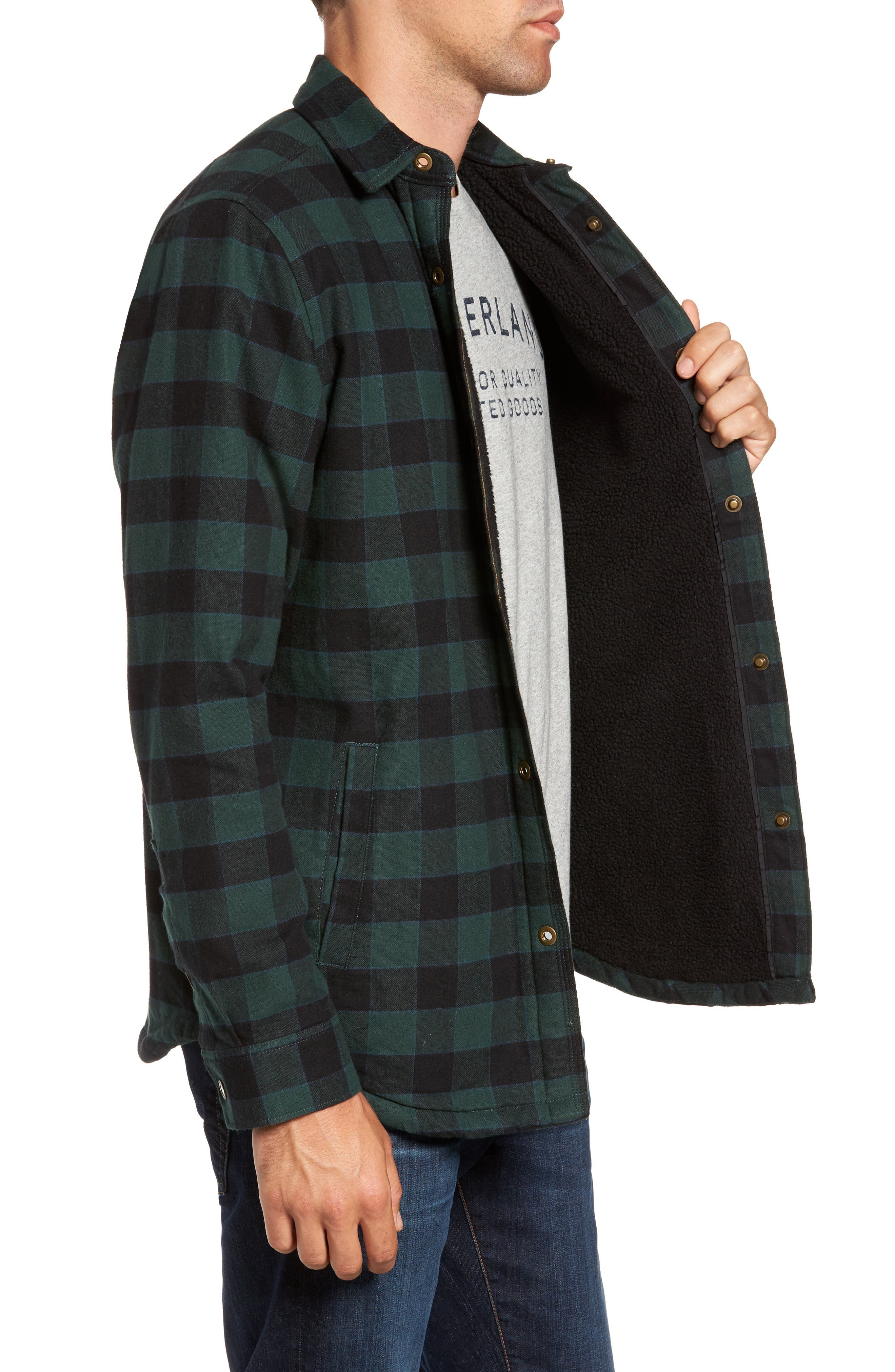 Alternate Image 3  - Timberland Check Shirt Jacket with Faux Shearling Lining