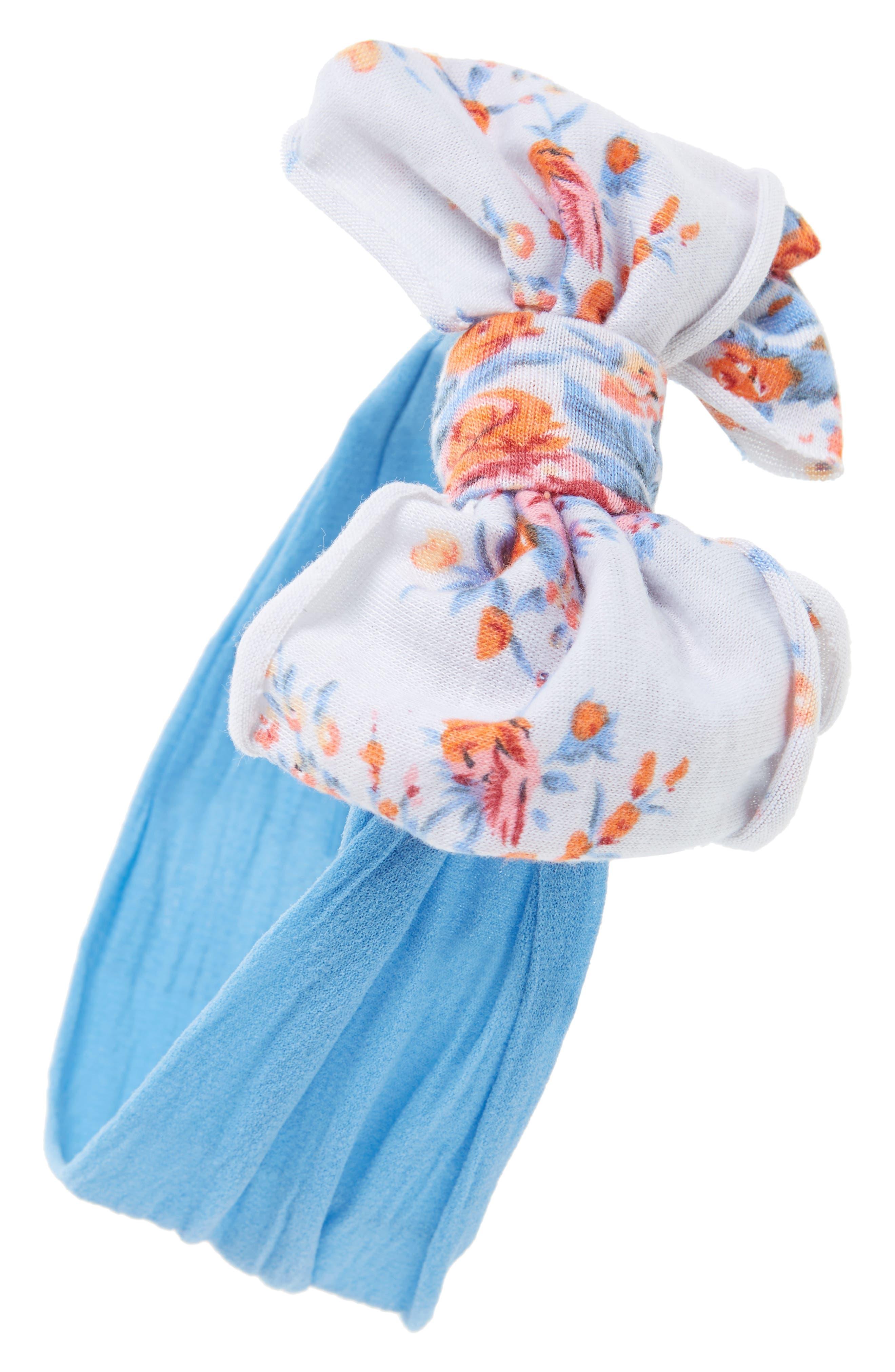 Main Image - Baby Bling Jersey Bow Headband (Baby Girls)