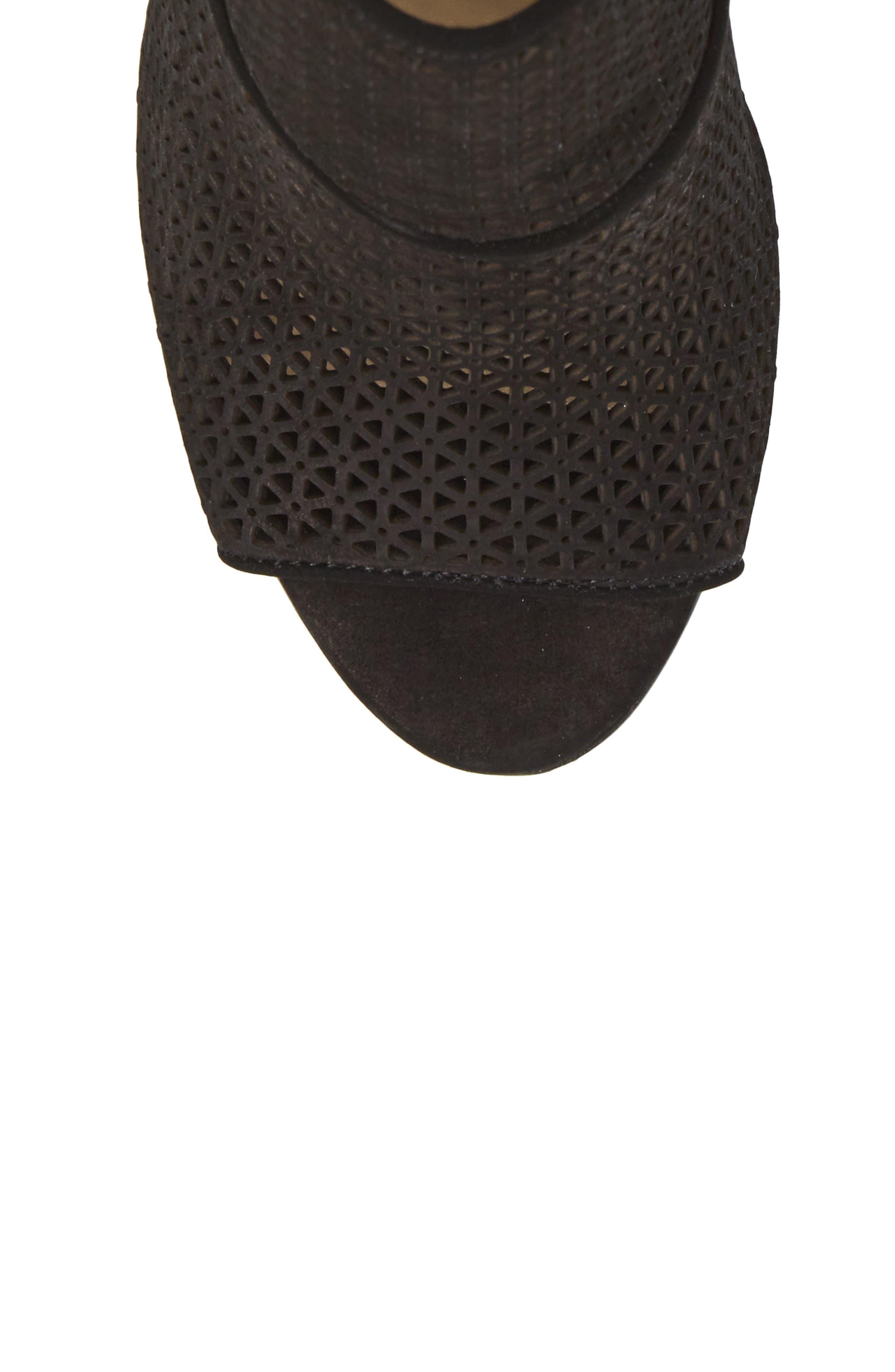 Vatena Bootie,                             Alternate thumbnail 5, color,                             Black Nubuck Leather