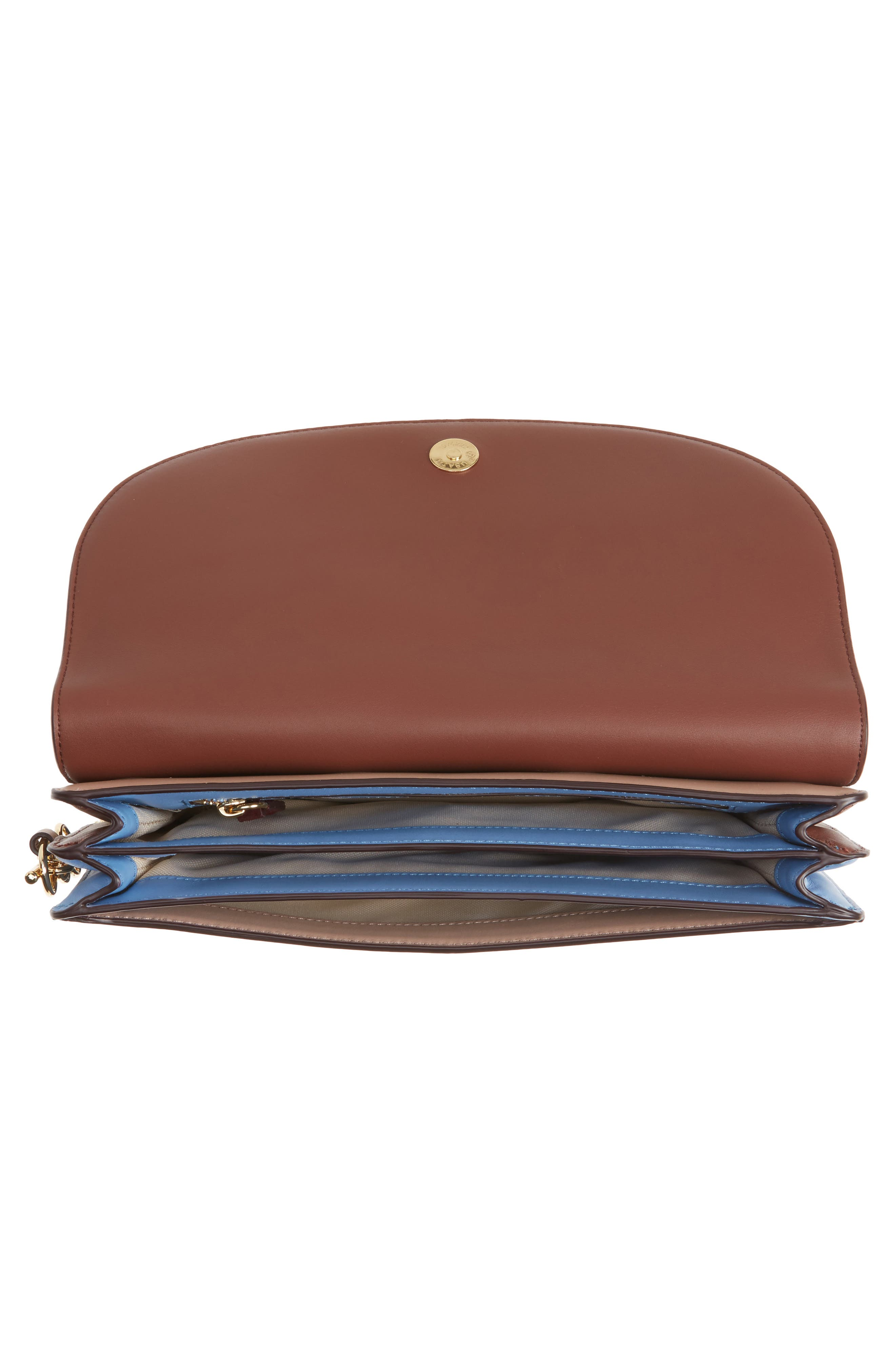 Convertible Leather Saddle Clutch,                             Alternate thumbnail 4, color,                             Bordeaux/ Dusty Pink