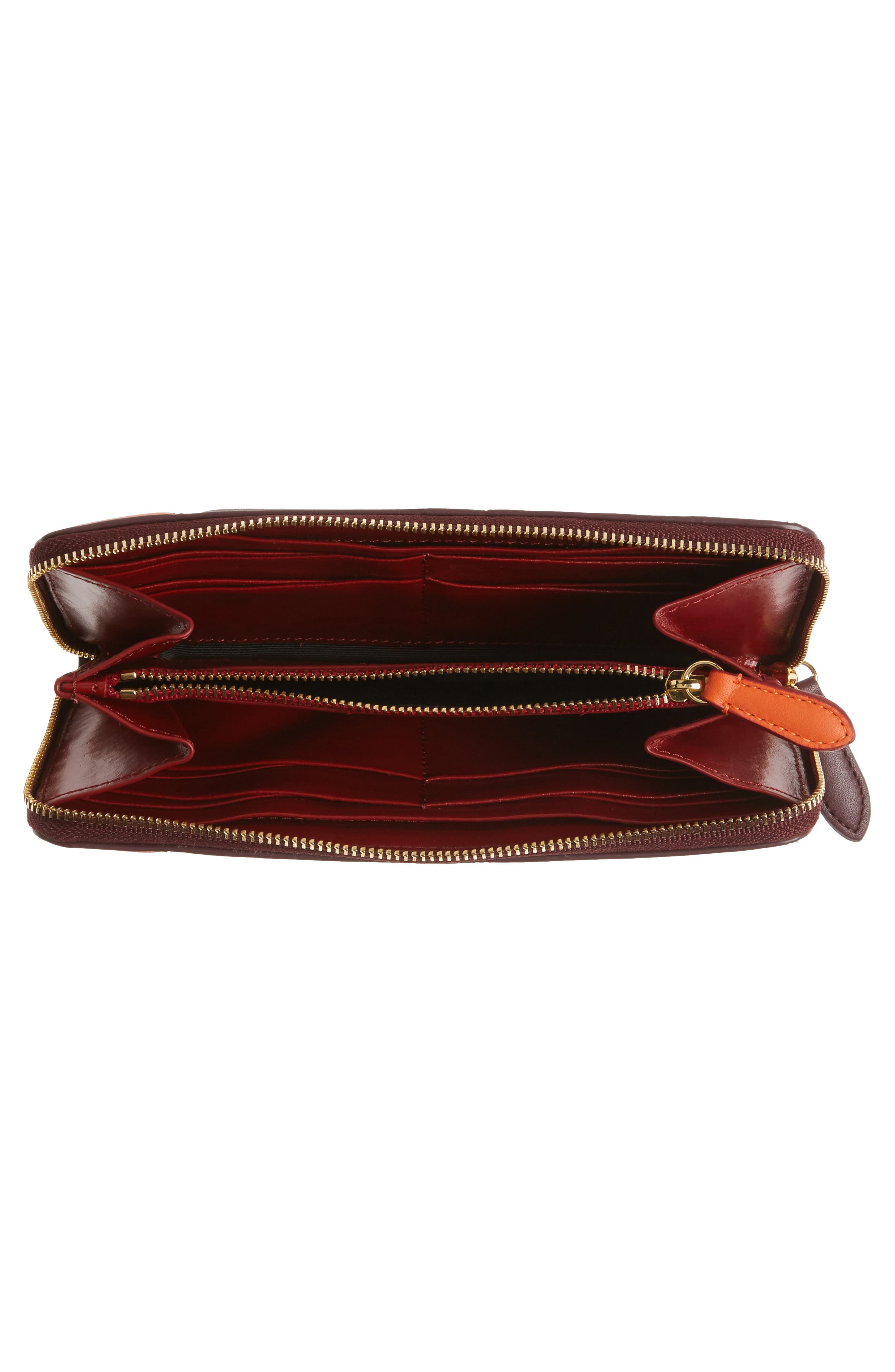 Alternate Image 2  - Diane von Furstenberg Colorblock Leather Continental Wallet