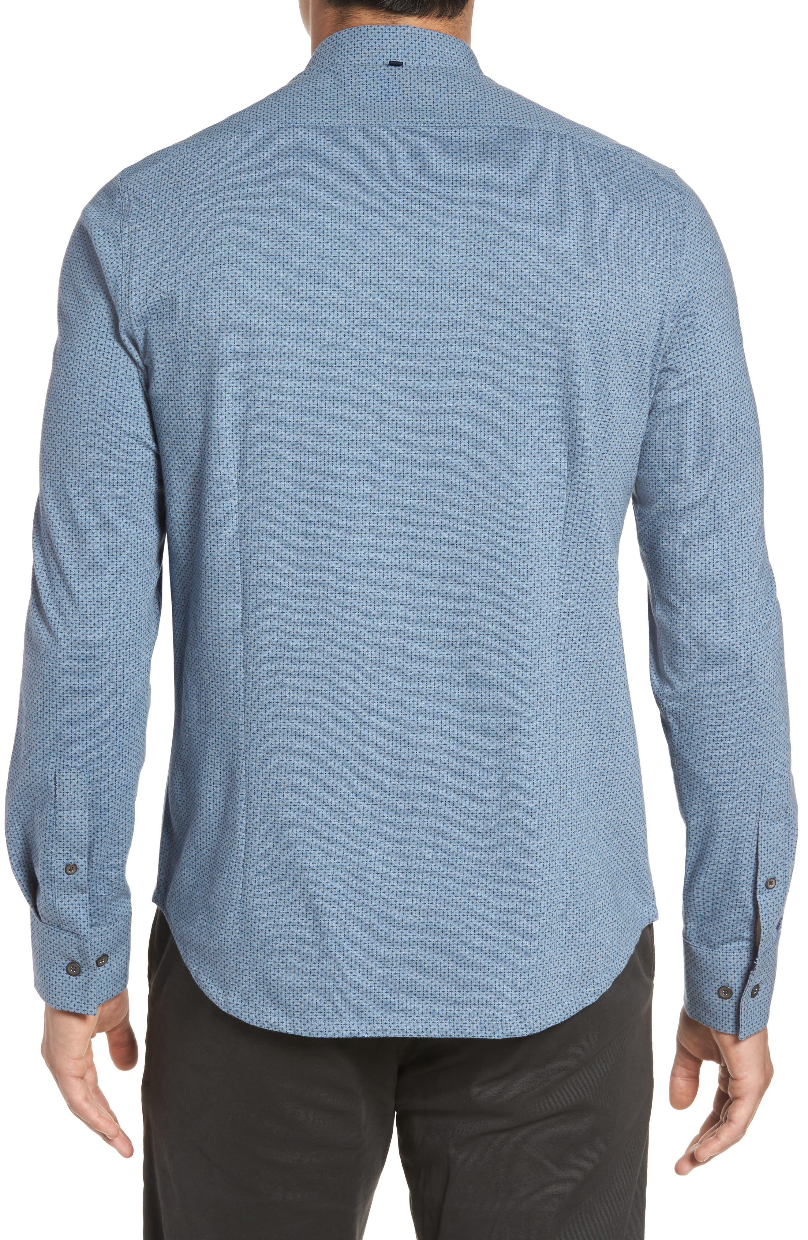 Reworked Patterned Sport Shirt,                             Alternate thumbnail 2, color,                             Blue