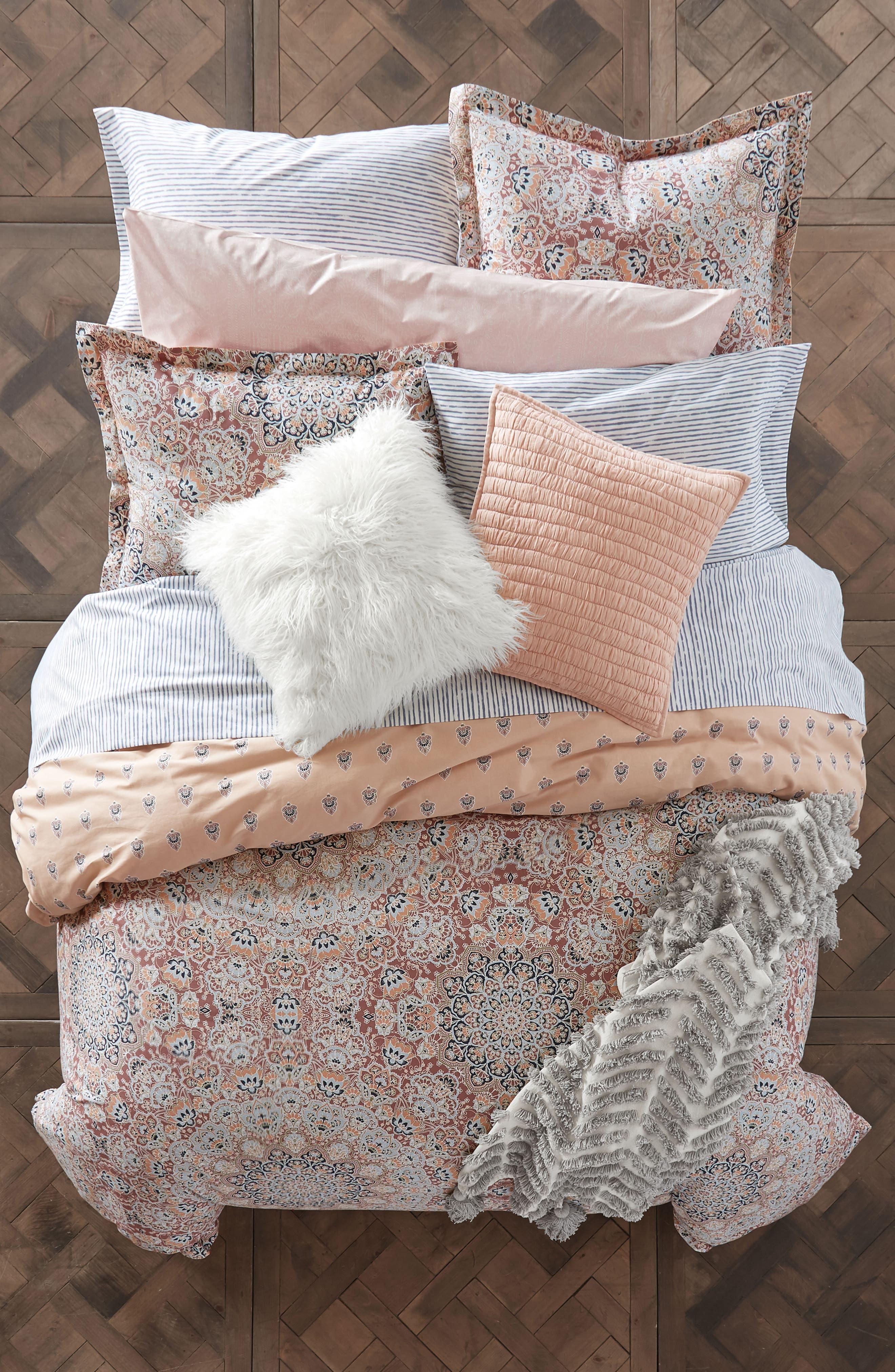 Tassel Throw Blanket,                             Alternate thumbnail 3, color,                             White/ Grey